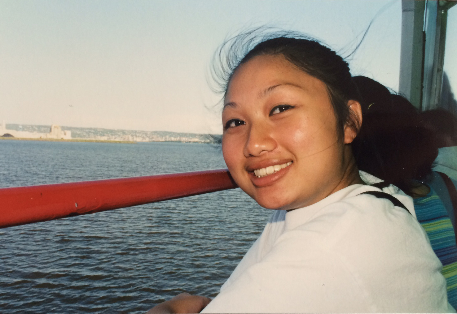 Still learning the ropes of being Pagnia Xiong.  August 2000.