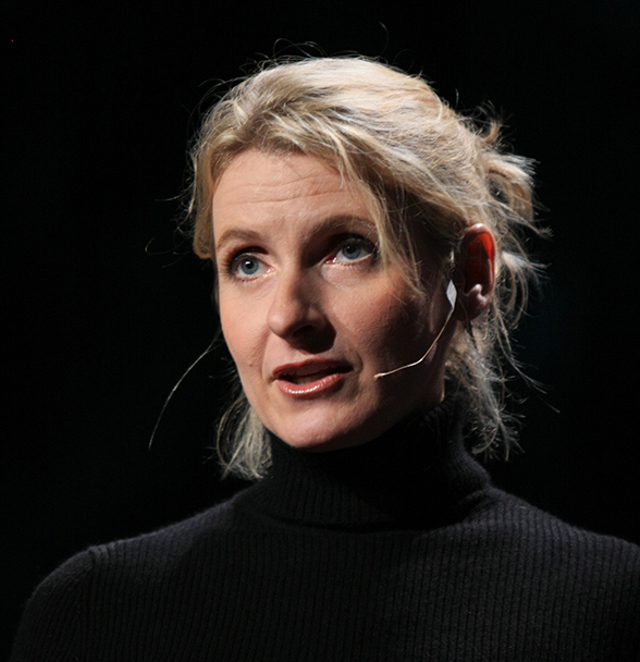 Elizabeth Gilbert giving a TED Talk (with currently over 10 million views), 2009.