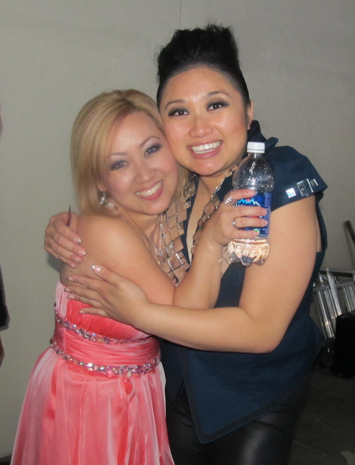 Julie (Fang) Zhang & me backstage at the Hmong Music Festival, May 2012.