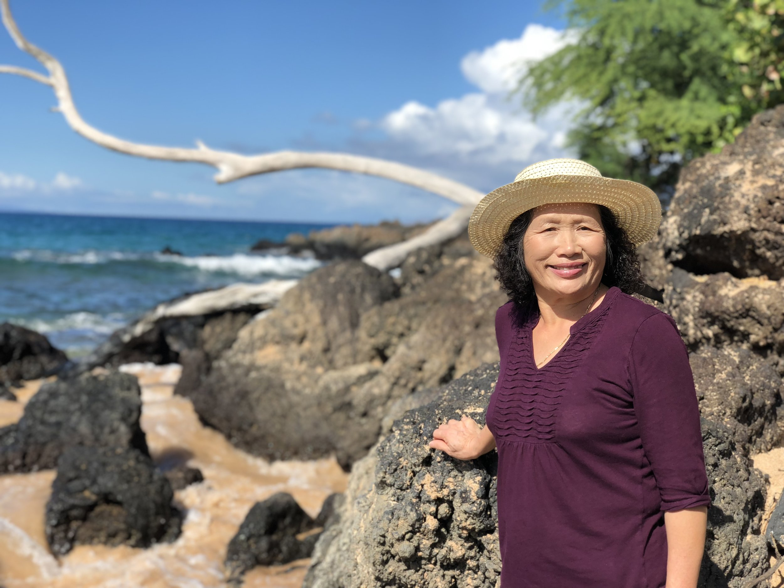 Mom's first trip to Hawaii.