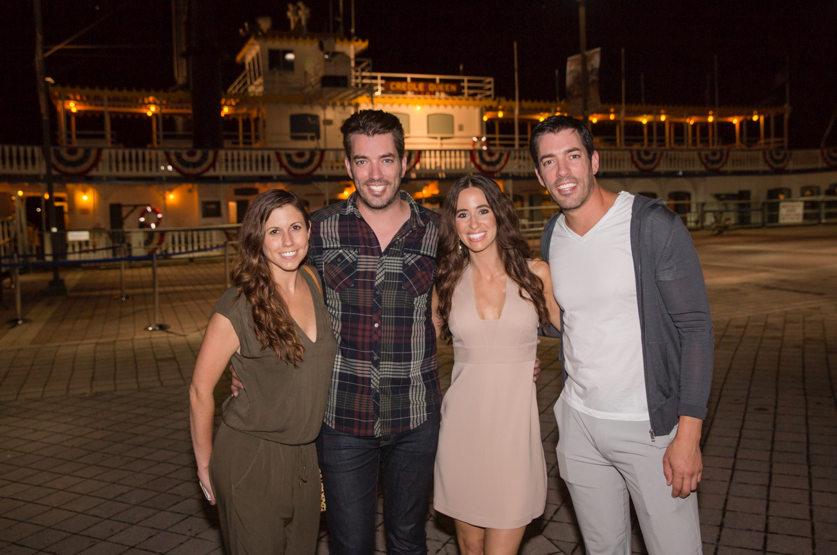 From left to right: Kelly Sutton, Jonathan Scott, Sarah James Moss, and Drew Scott
