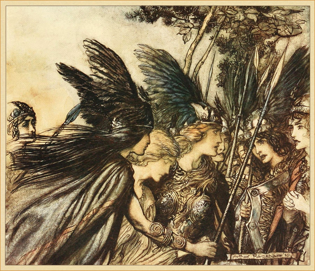 "Arthur Rackham, ""The Valkyrie,"" 1910"