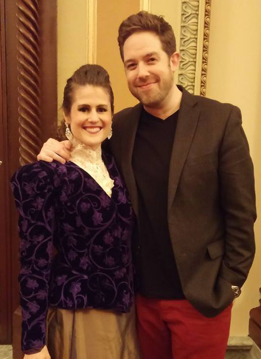 Angela & Brett after a 2017 performance of  La Bohème   .