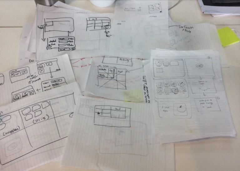 Layout ideas from our collaborative sketch session