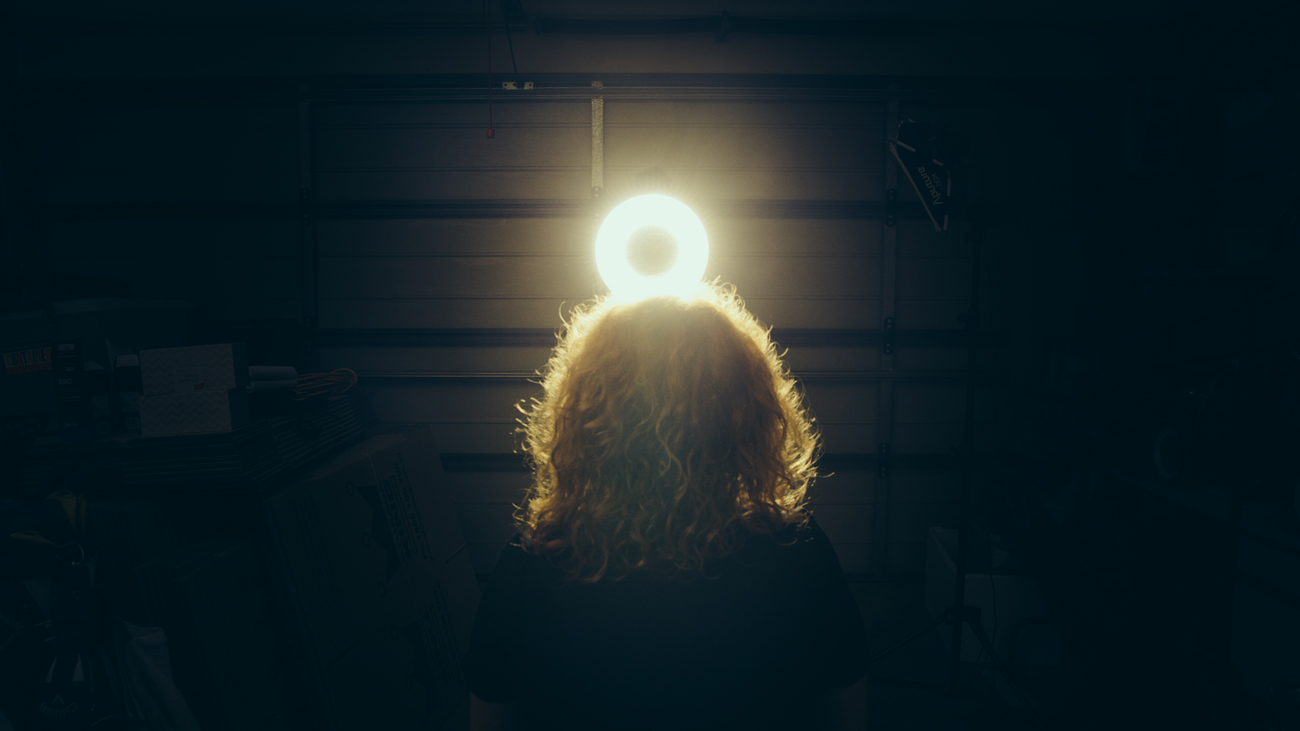 Staring into those bright lights as Bindi Cole Chocka bares her soul on Youtube.