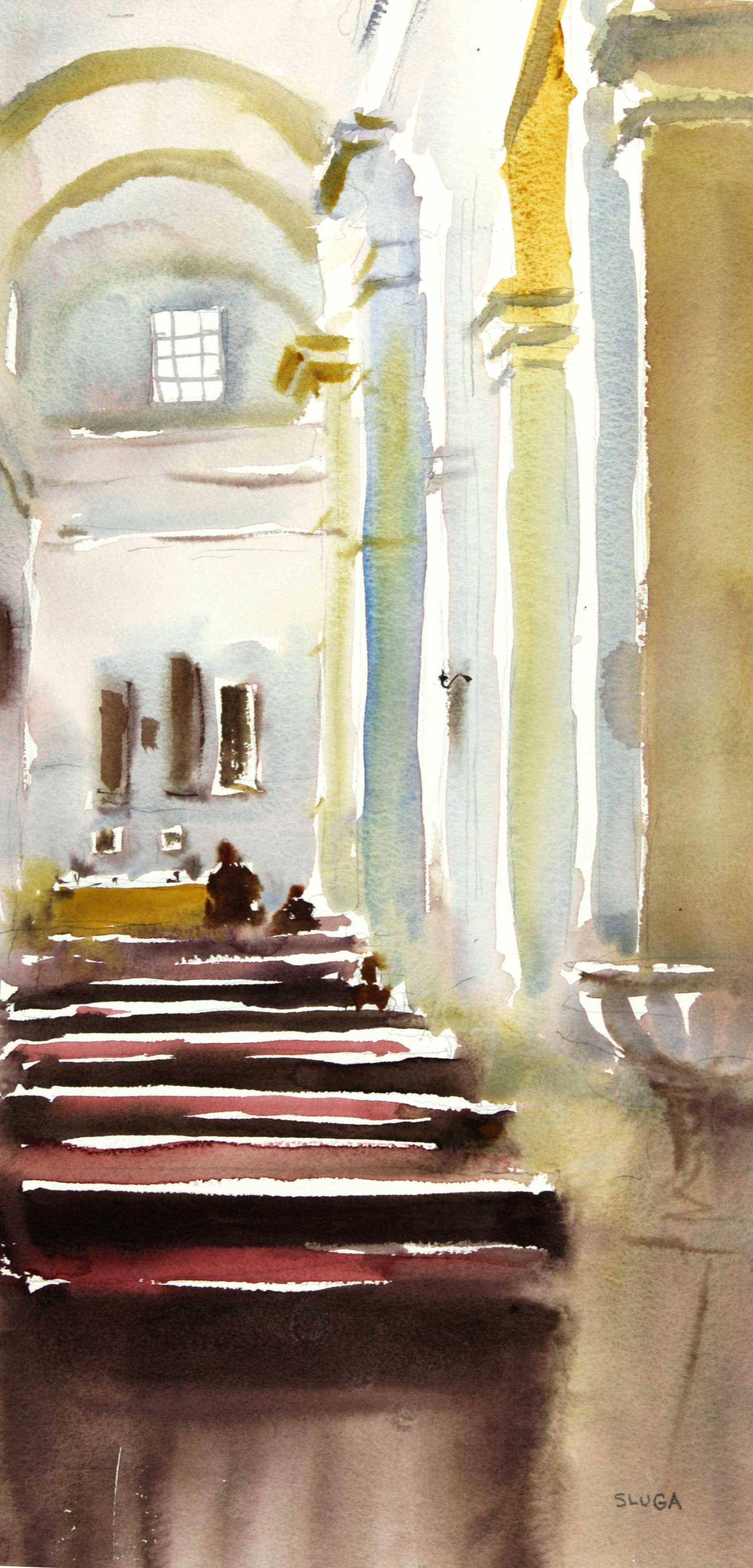 Sunday Church 28 x 55 cm