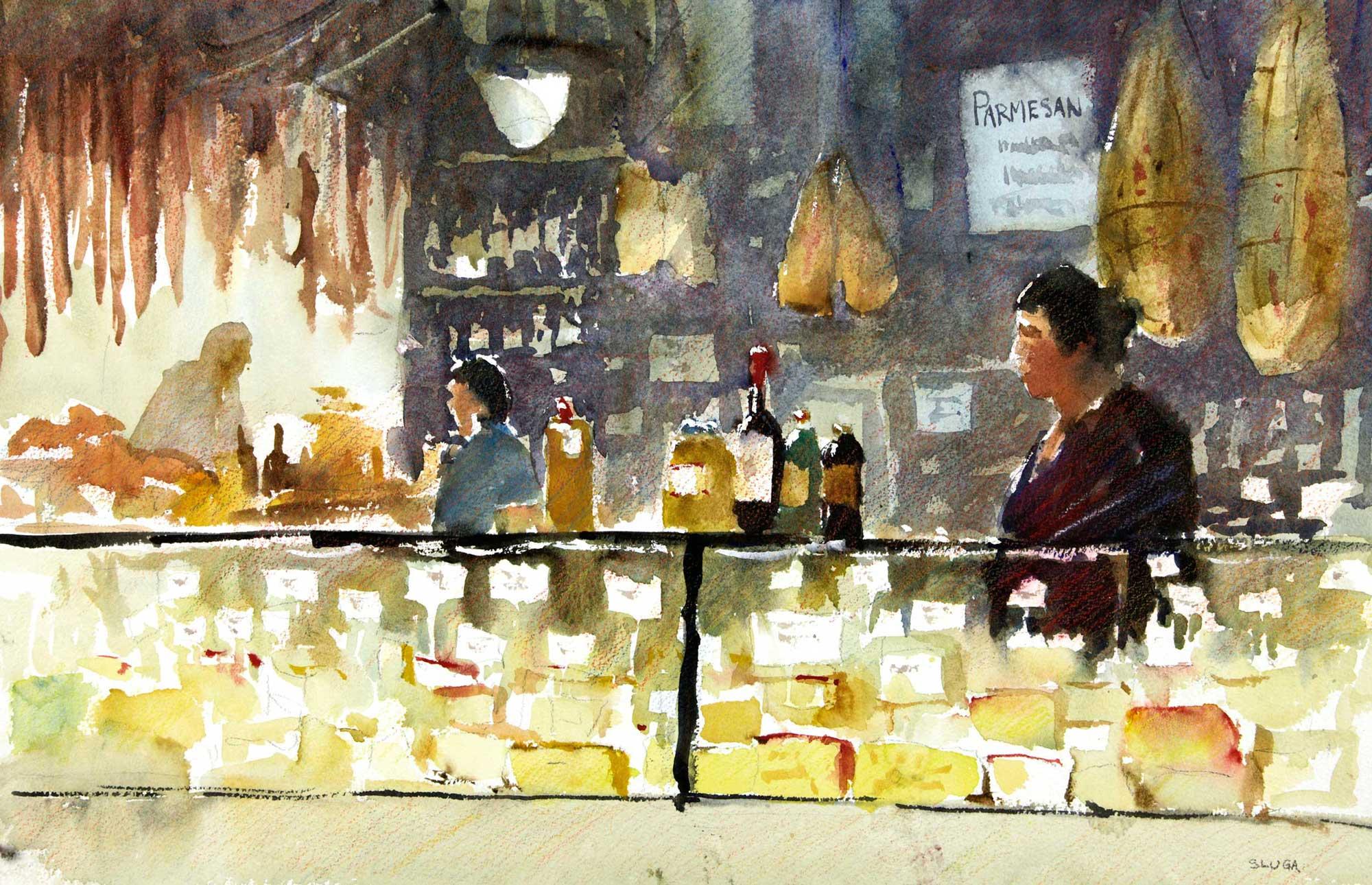 Cheese, Victoria Market 55 x 35 cm