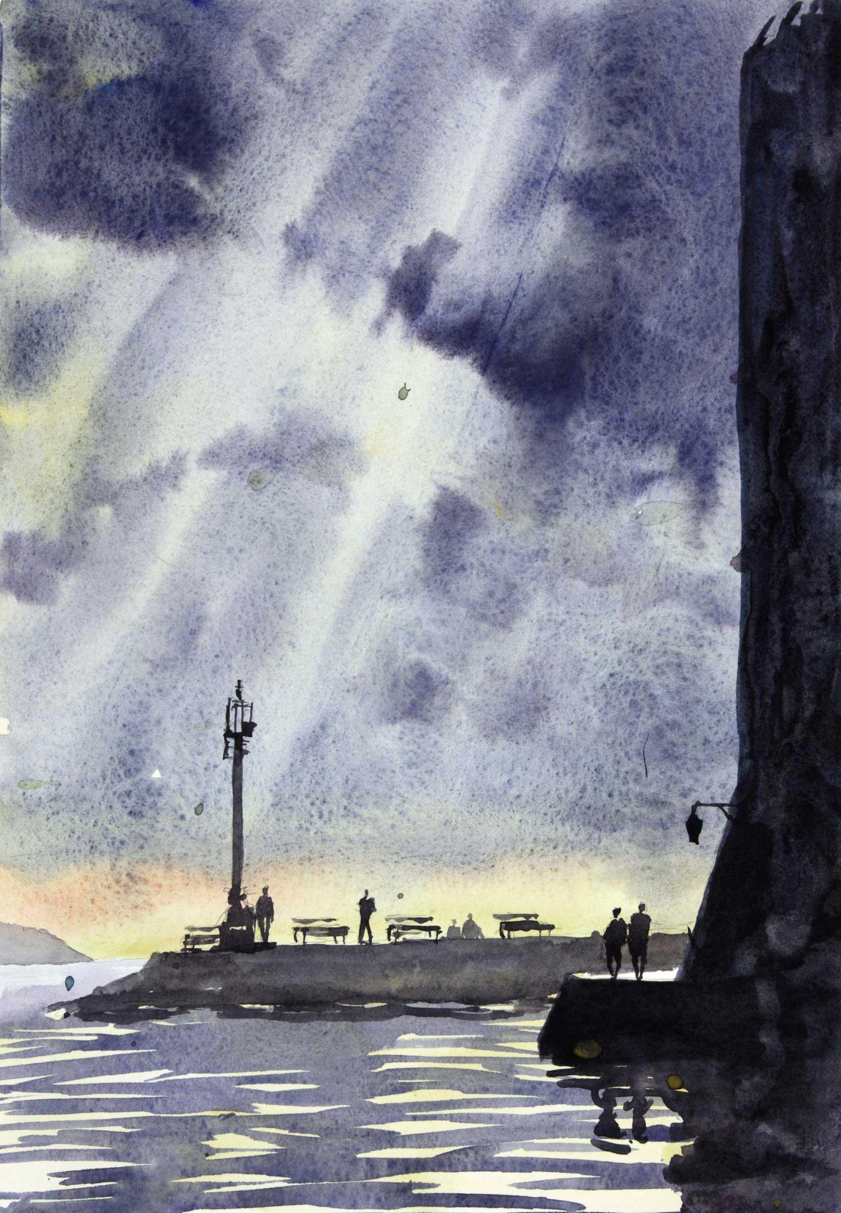 Breaking Clouds, Dubrovnik 24 x 35 cm