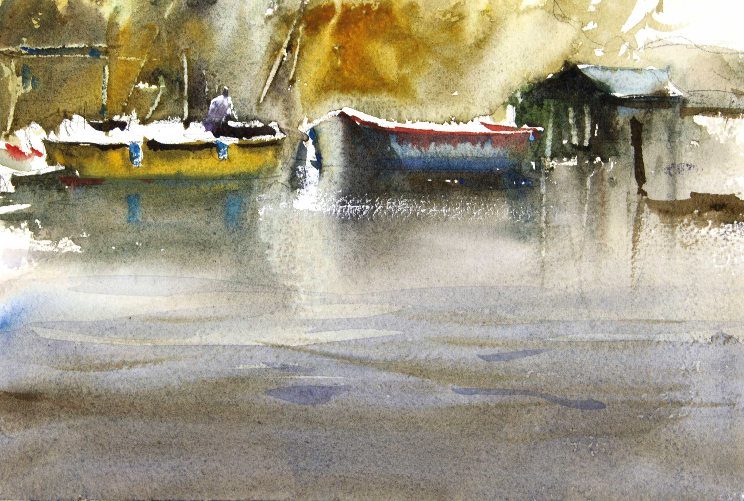 Thames, London 26 x 17 cm