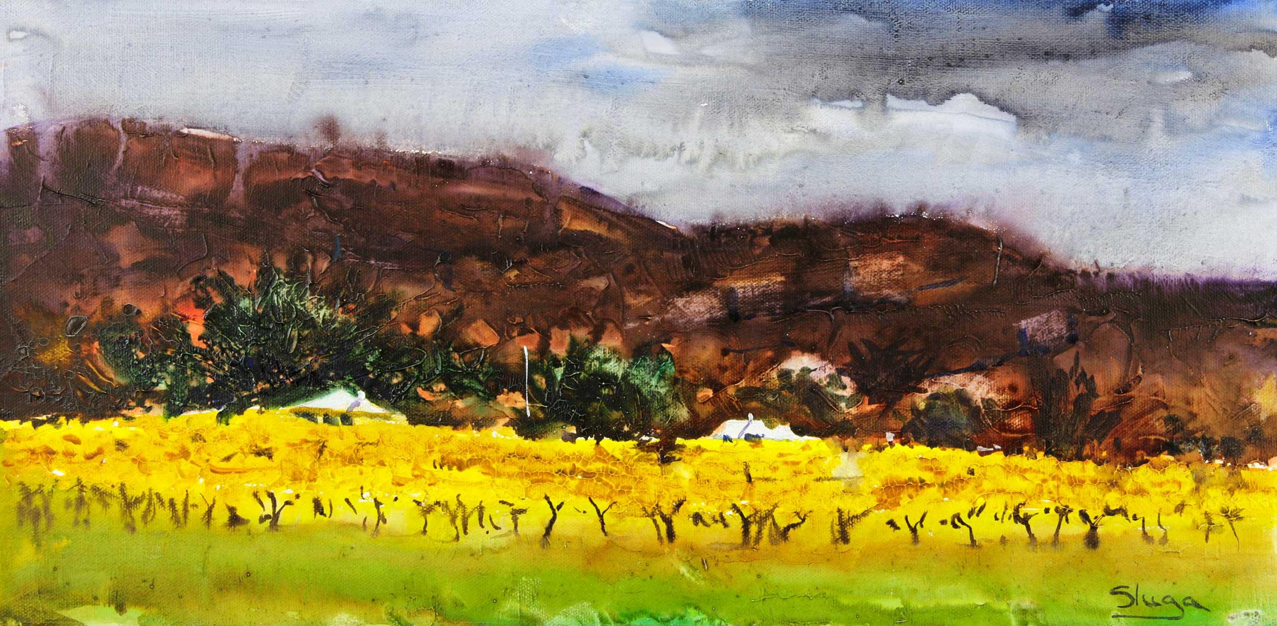 Autumn Vines, Grampians 50 x 25 cm