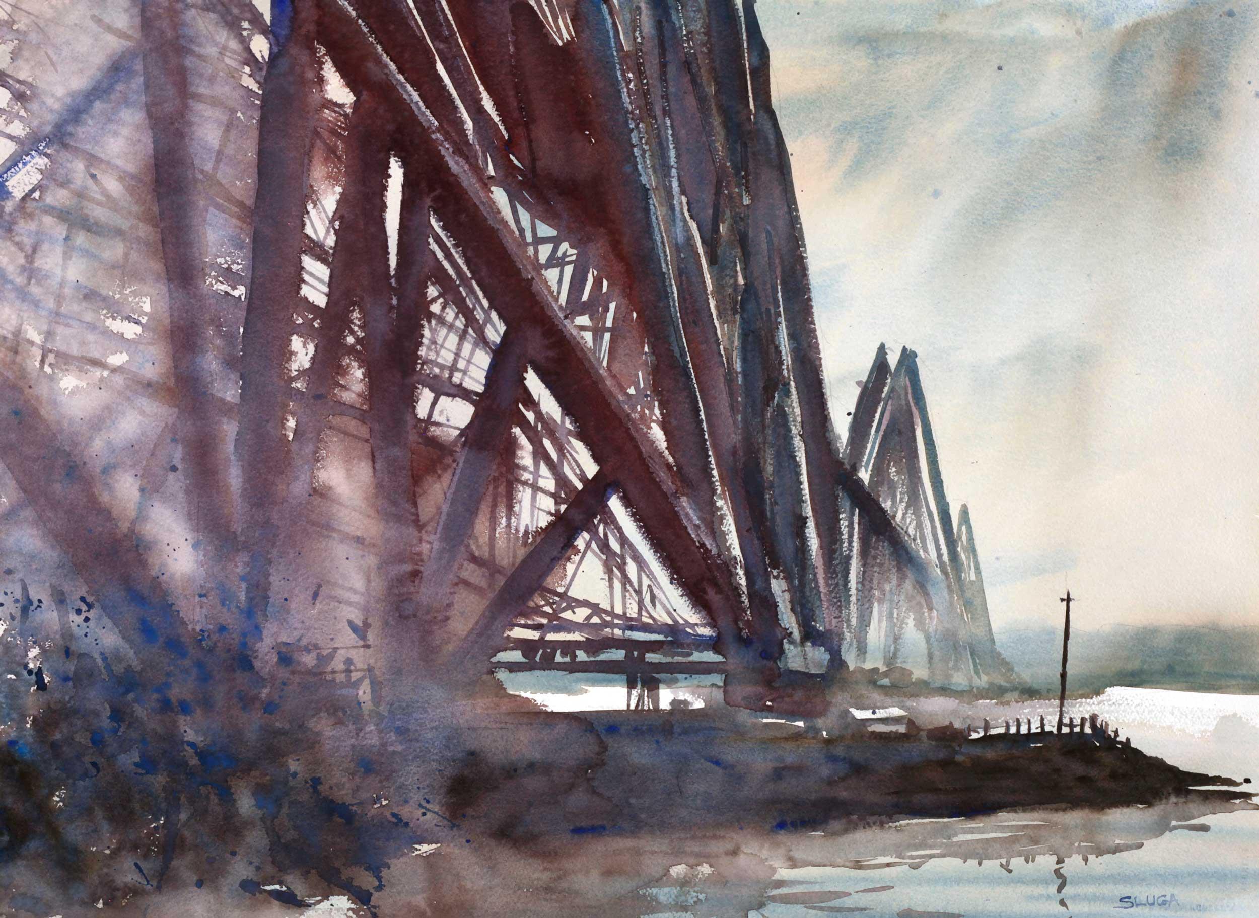 Forth Bridge  76 x 55 cm