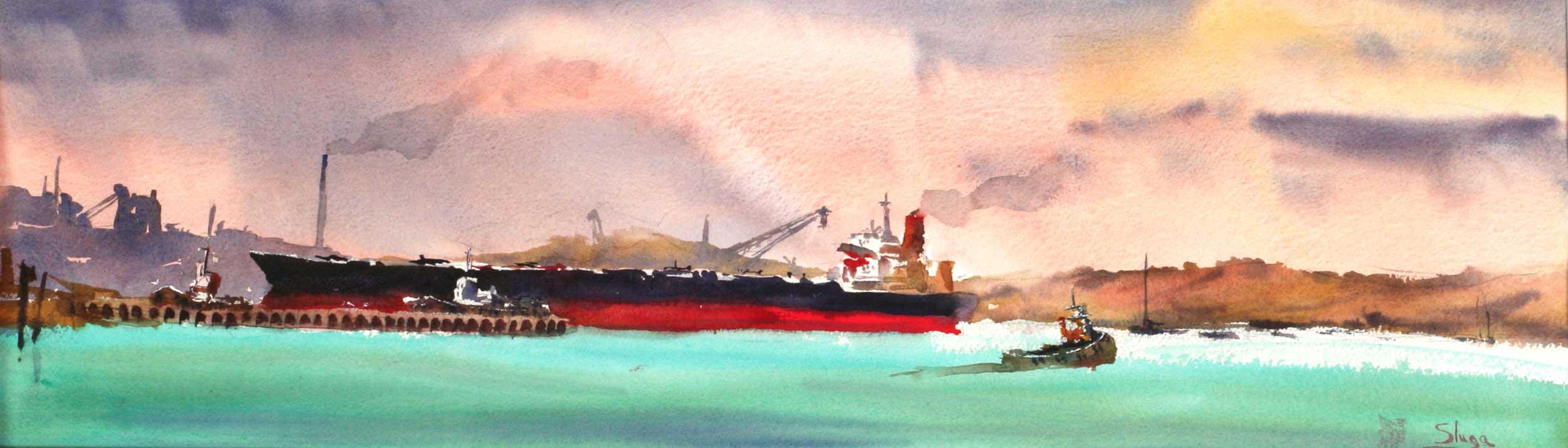 The Arrival, Corio Bay 75 x 26 cm