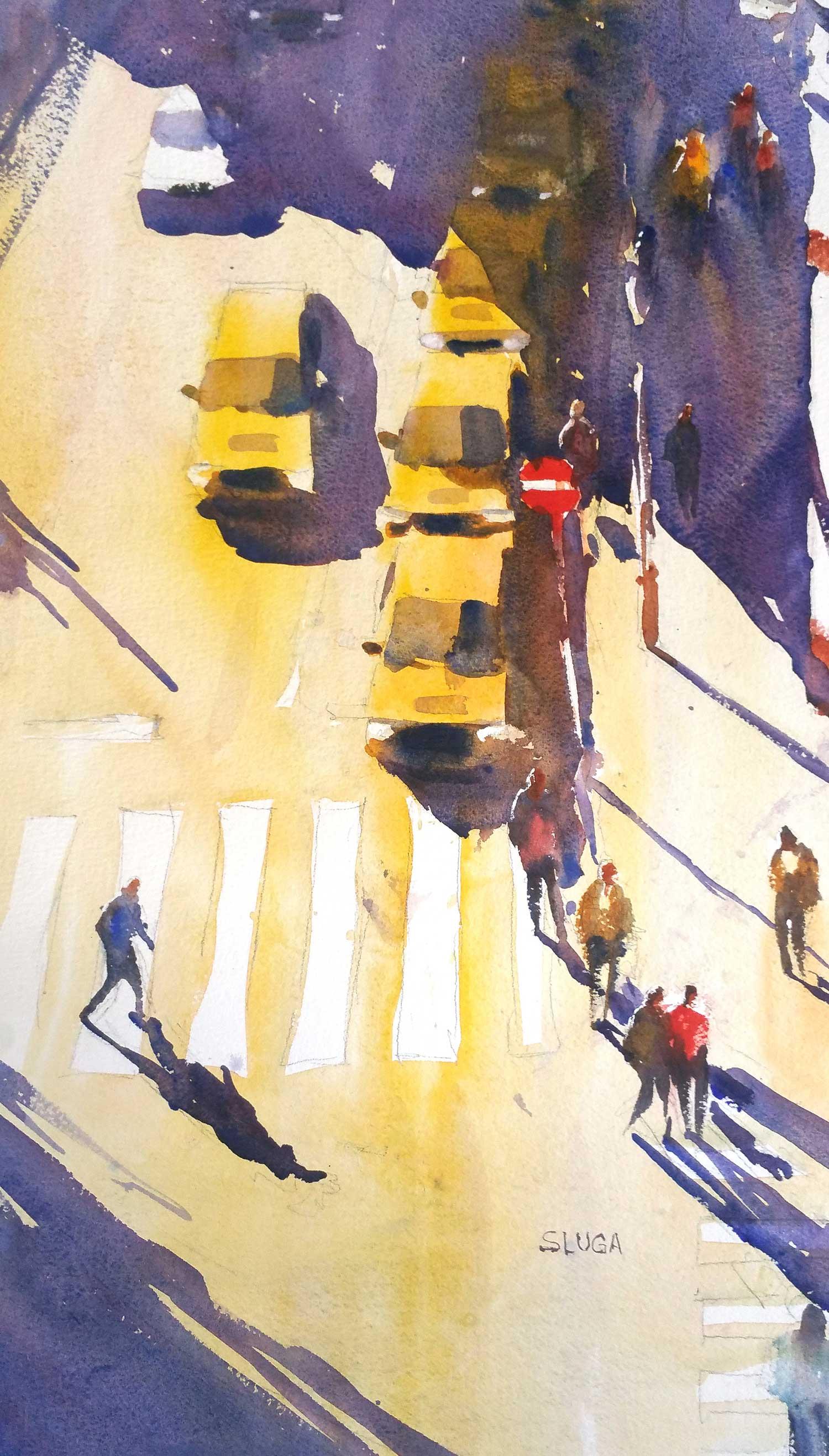 Prague Taxis 23 x 45 cm
