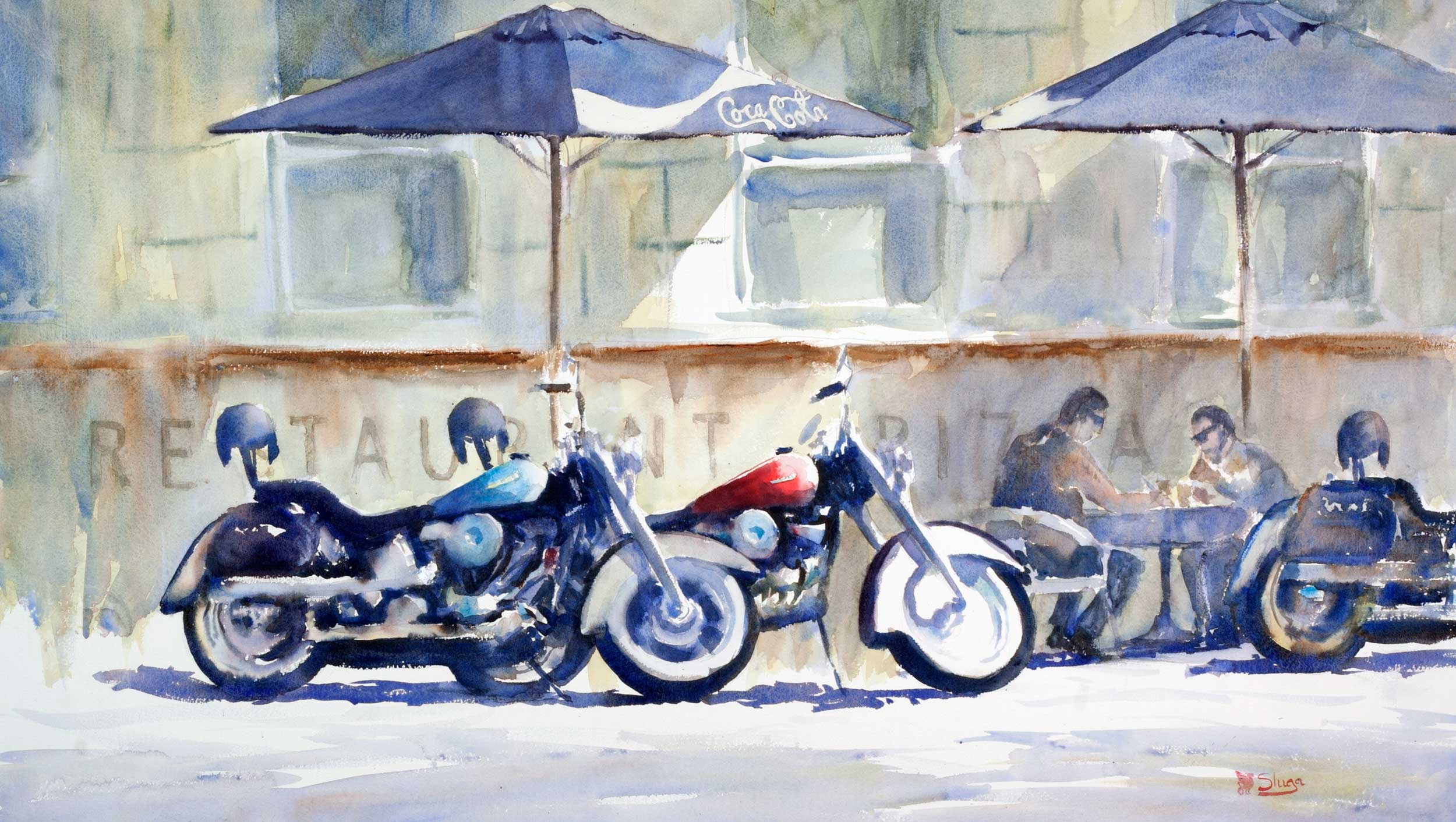 Harley and Gizzy 117 x 66 cm