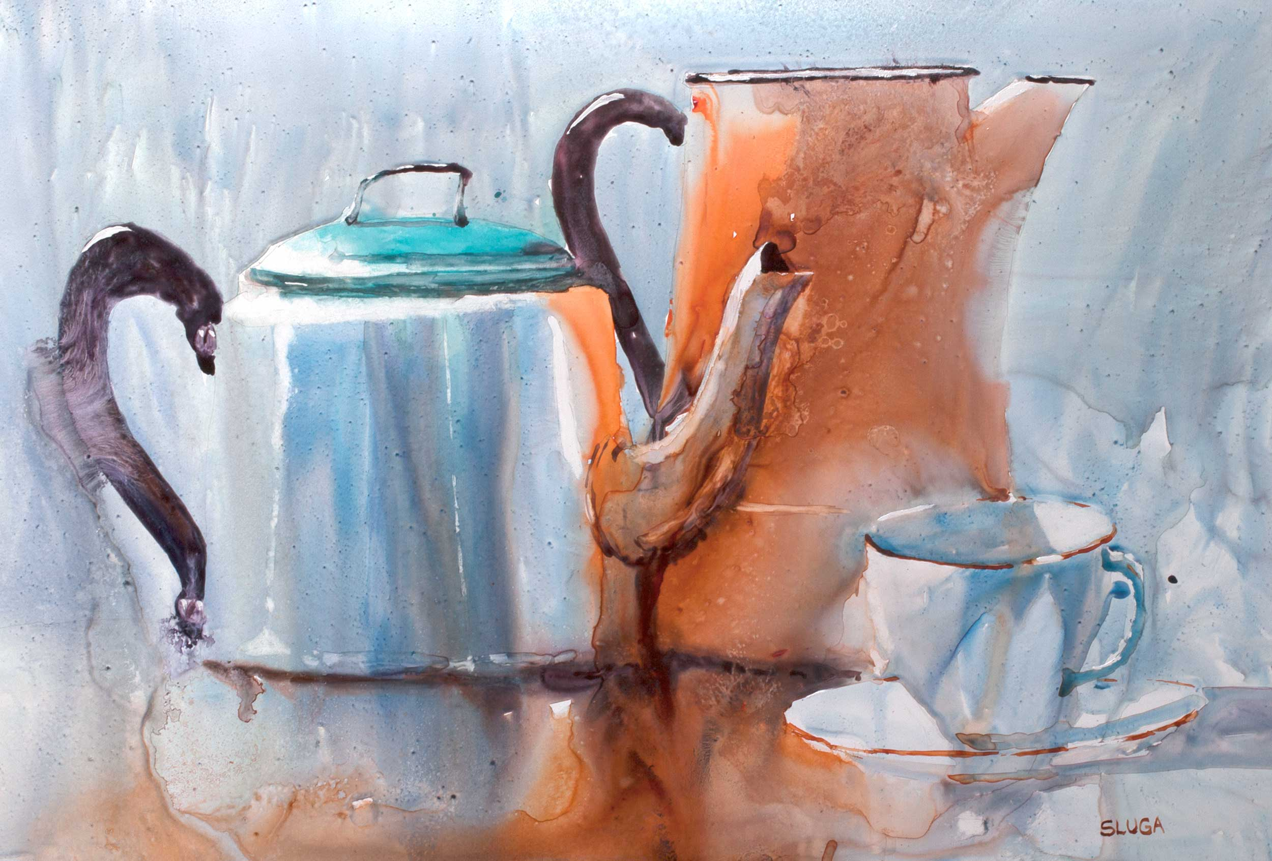 Country Tea 79 x 58 cm (This painting is framed)