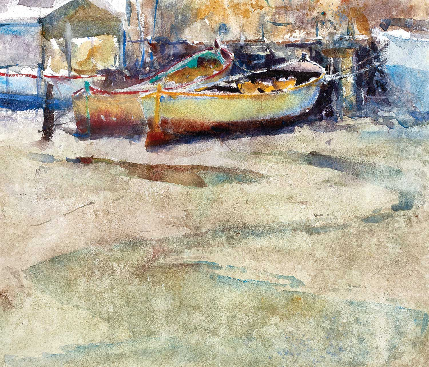 Low Tide, Thames 38 x 33 cm (Featured on recent London APV Film)