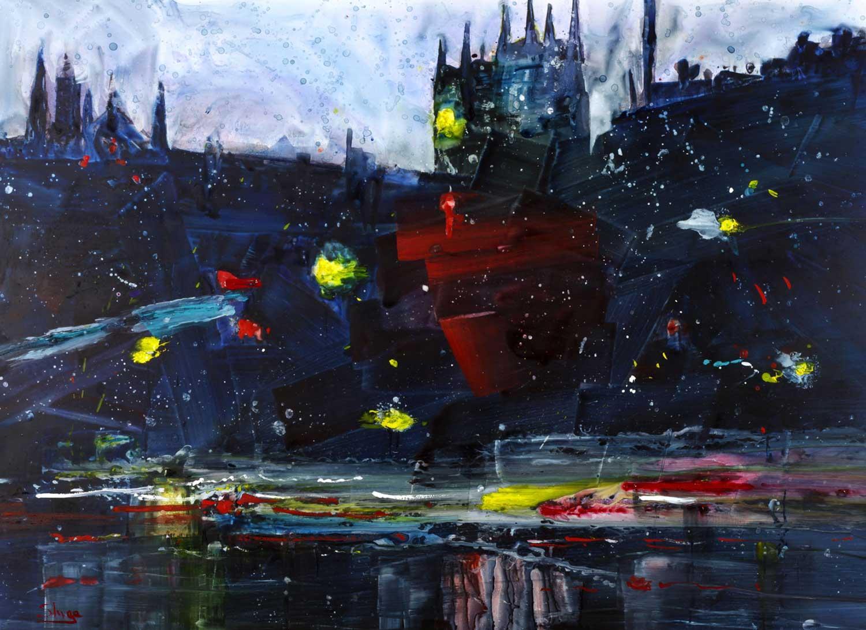 Rainy Night London 81 x 59 cm