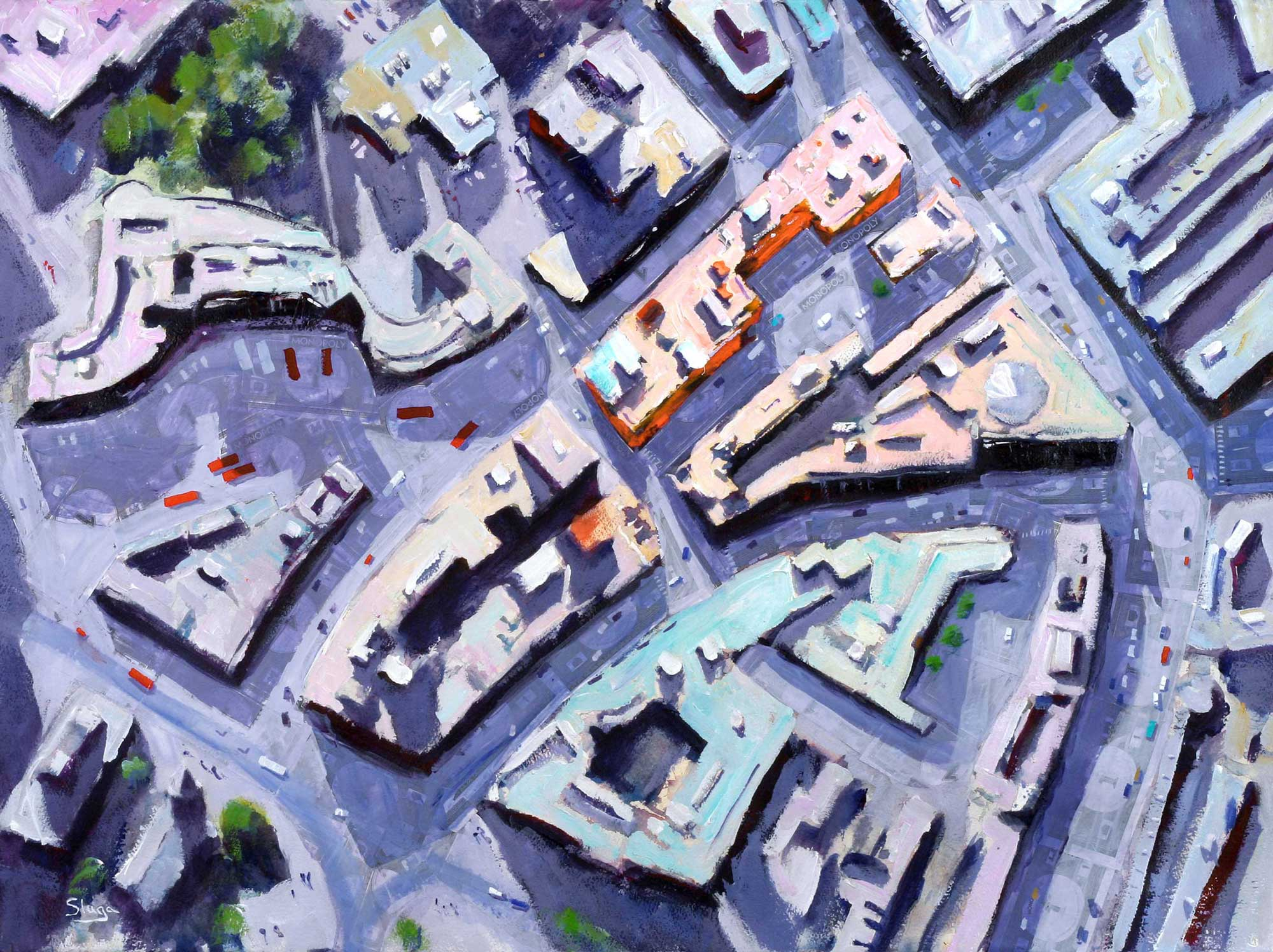 MONOPOLY Vine Street 75 x 55 cm