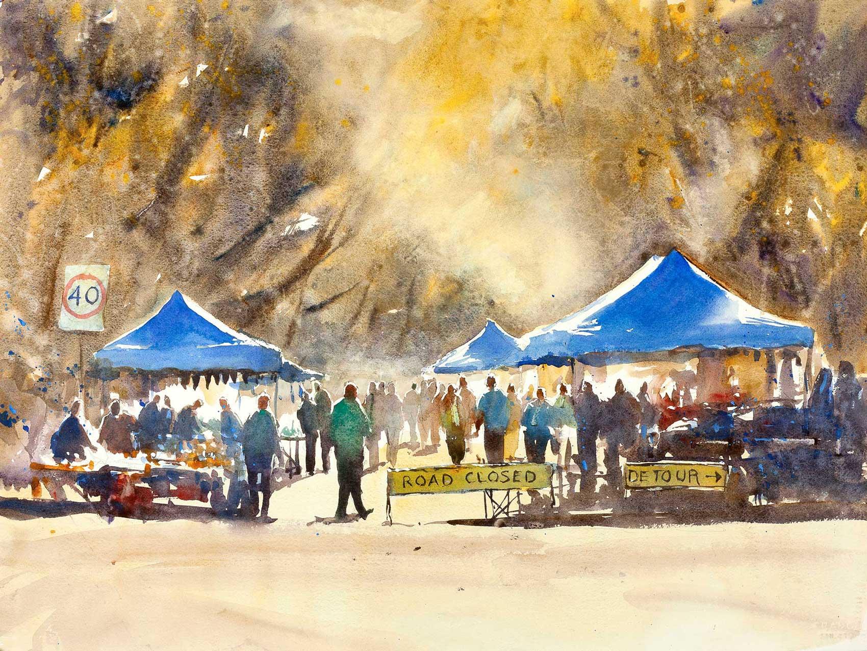 market Day, Yack 75 x 55 cm