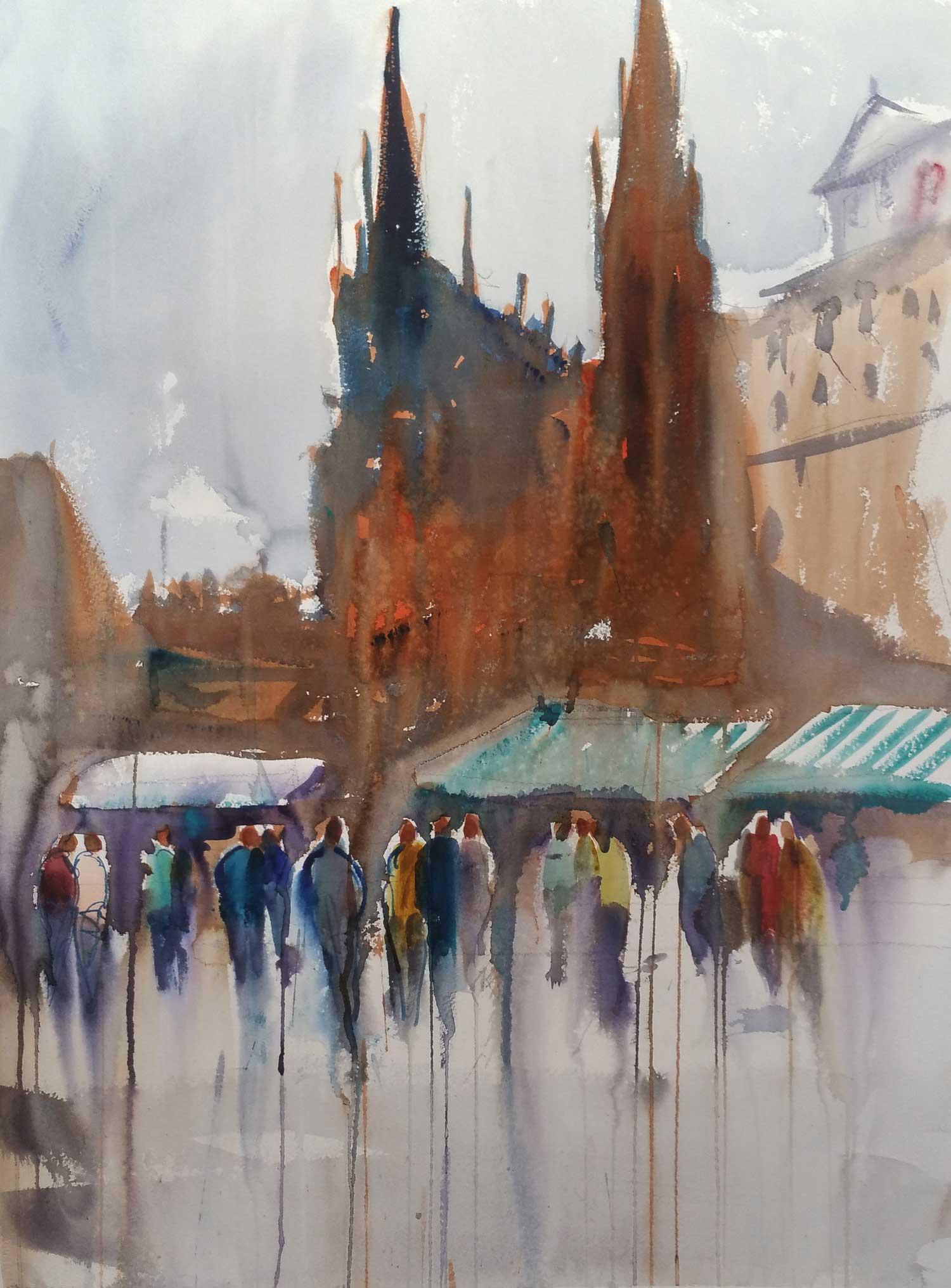 Prague Square 54 x 72 cm