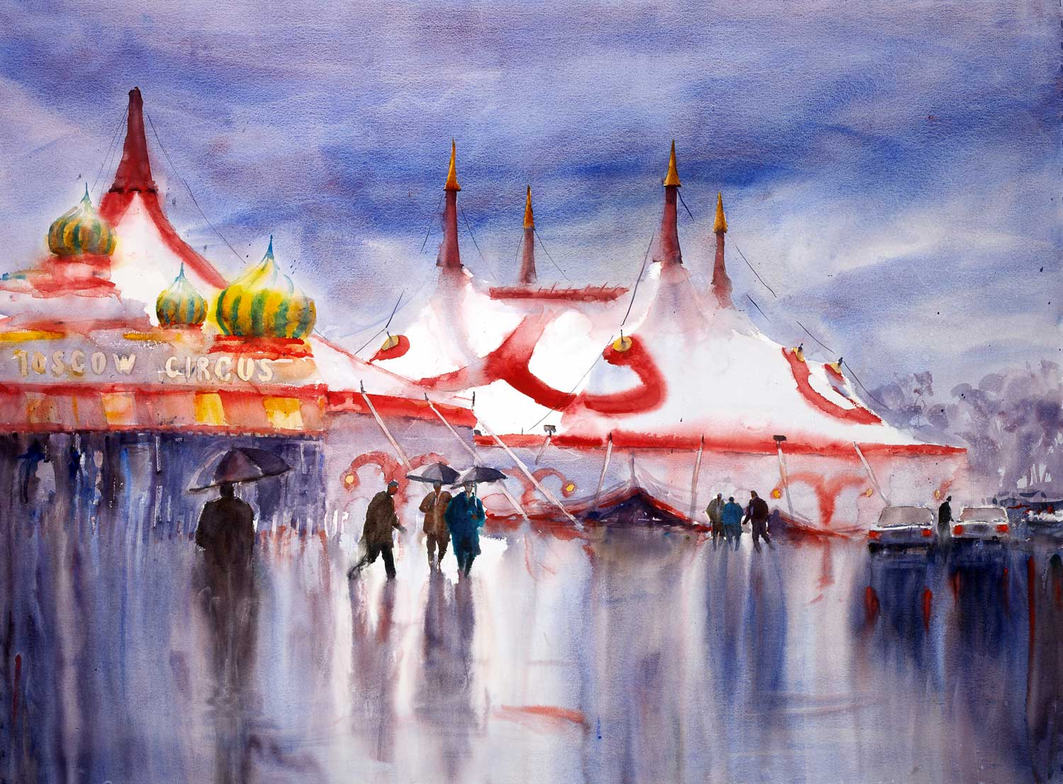 Wet Day, Moscow Circus (Sold)