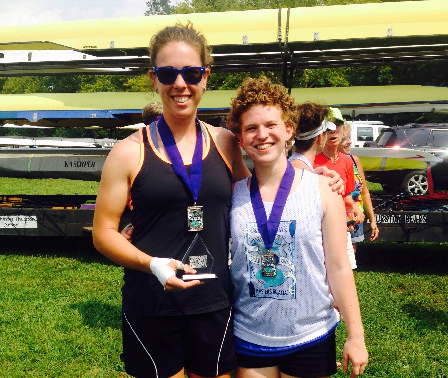 Suz & Liz 1st Place Diamond State Regatta 2015.JPG