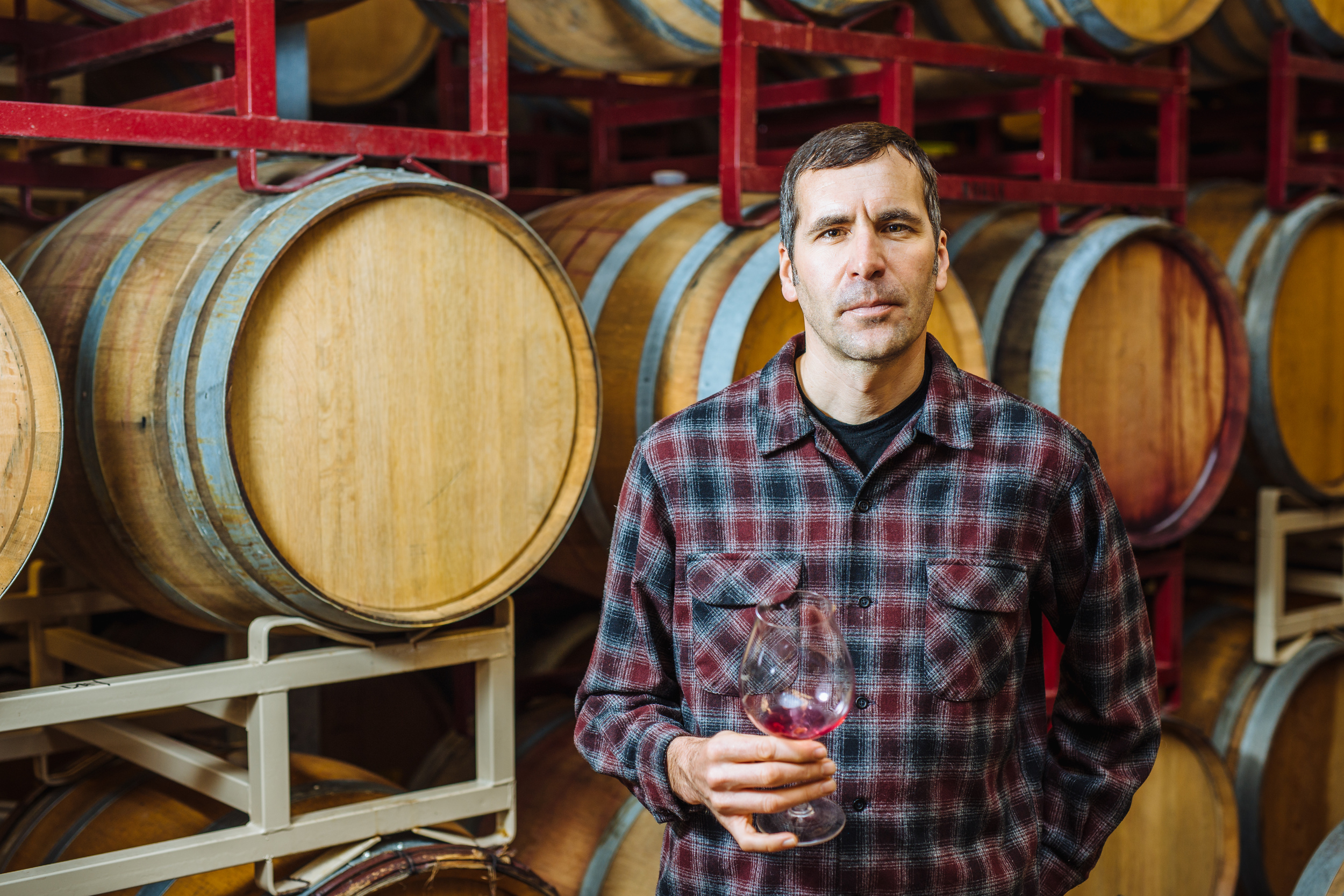 GC John in barrel room.JPG