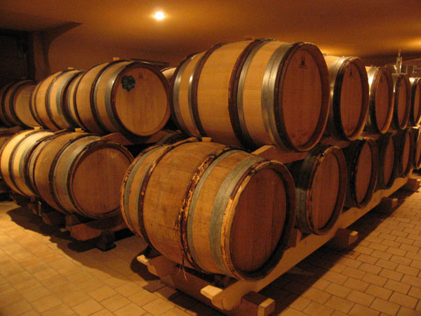 Domaine Dutron barrel room.jpg
