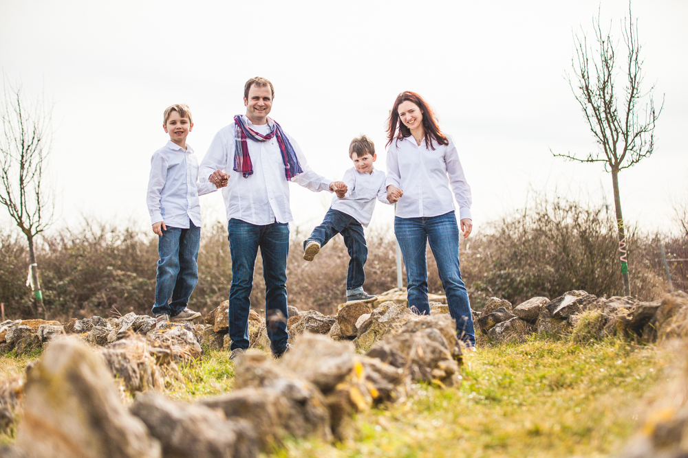 4th generation winemaker, Andreas Roll, with his family