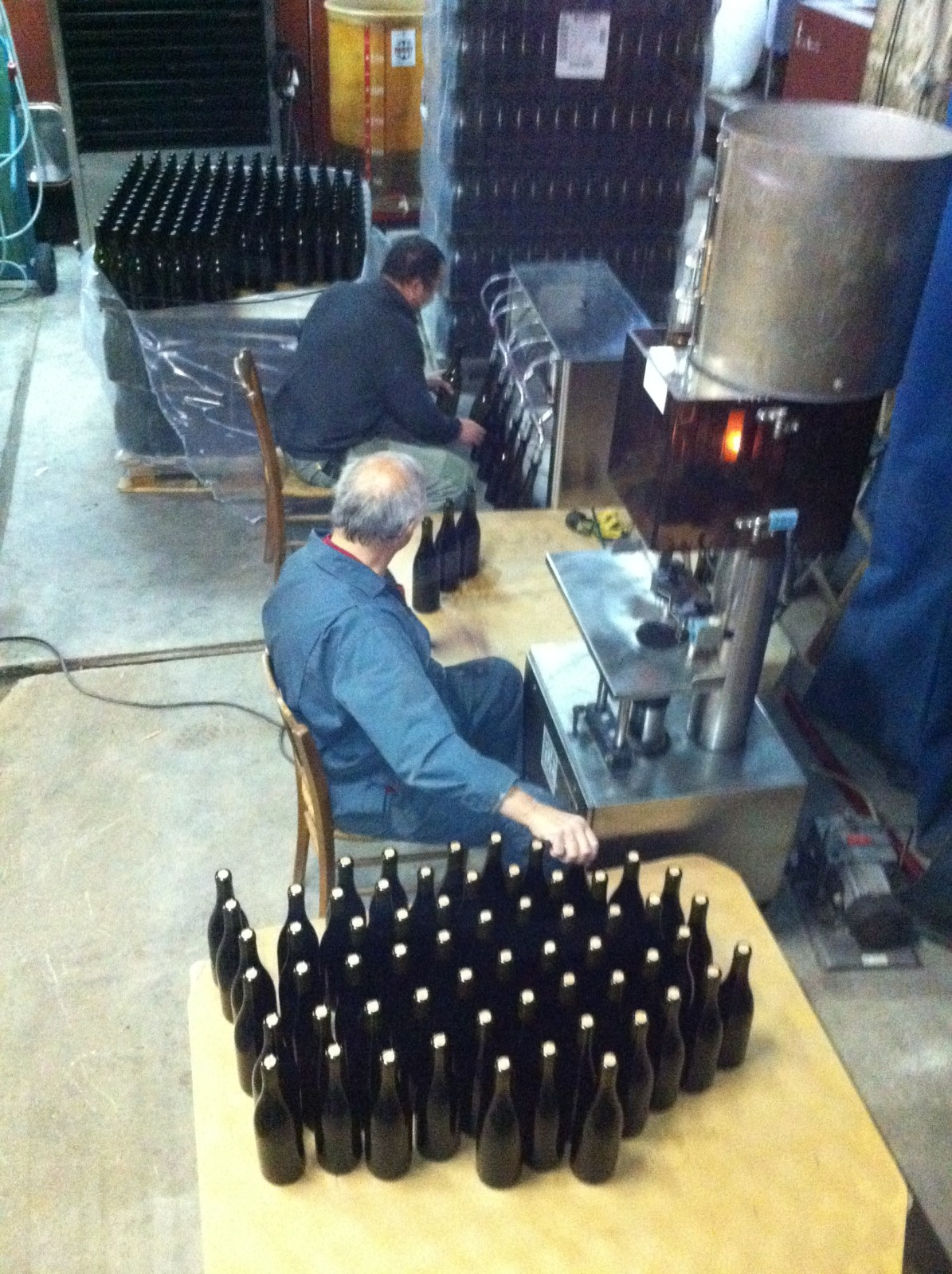 Bottling by hand