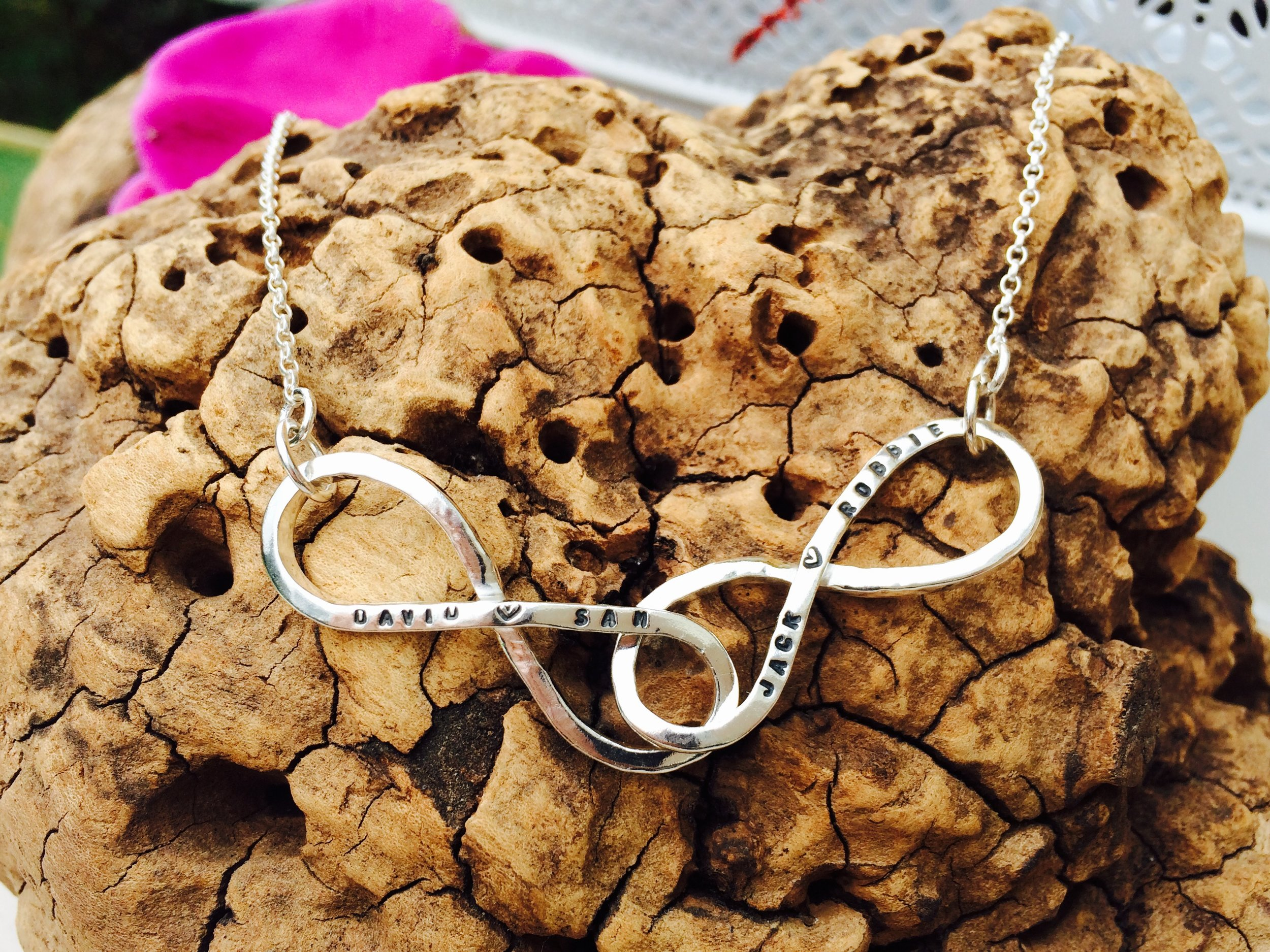 Custom Infinity Necklace - personalised