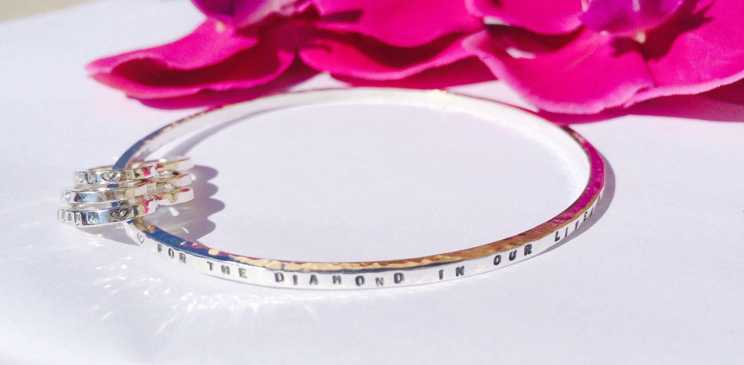 Storyboard Bangles with personalised hearts