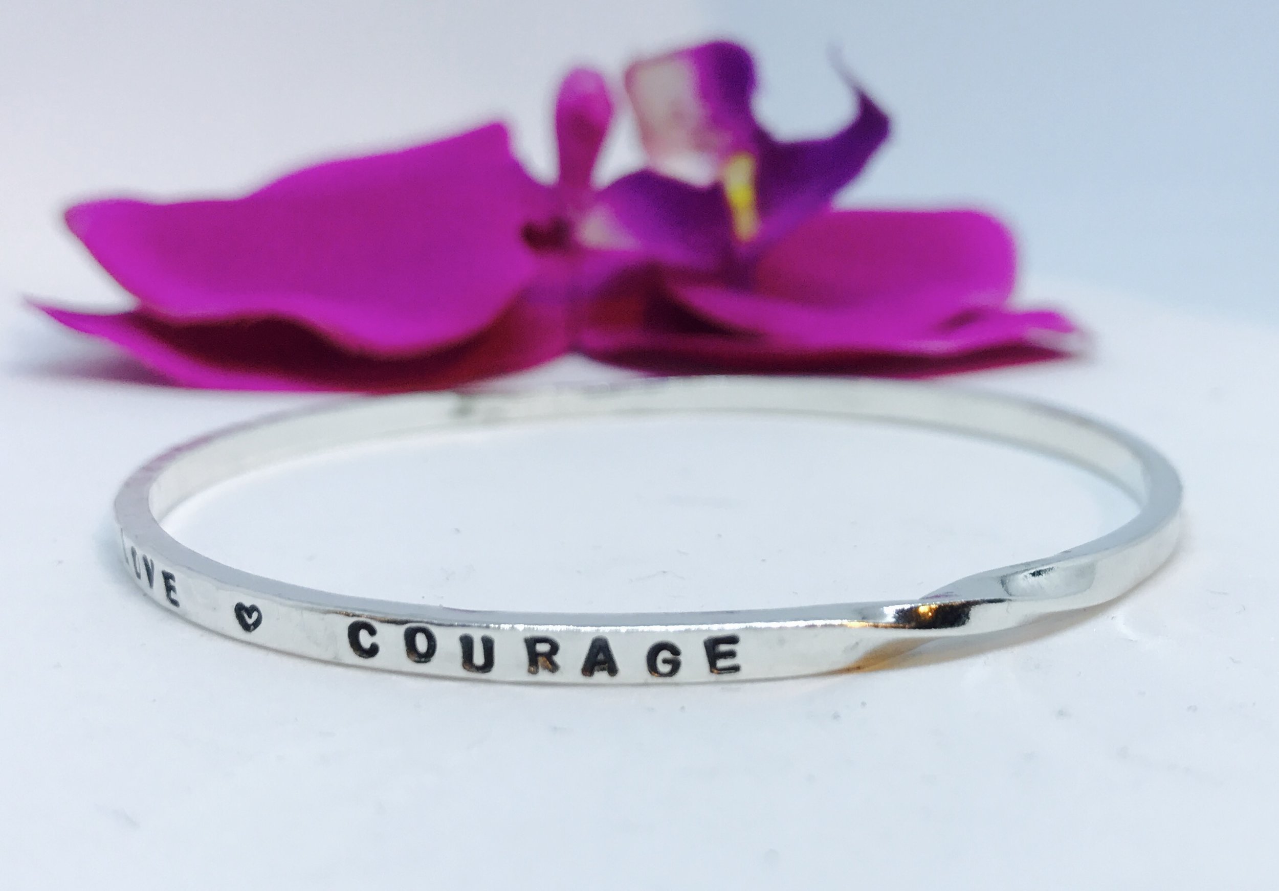 Custom Love Prevails Bangle with Torque