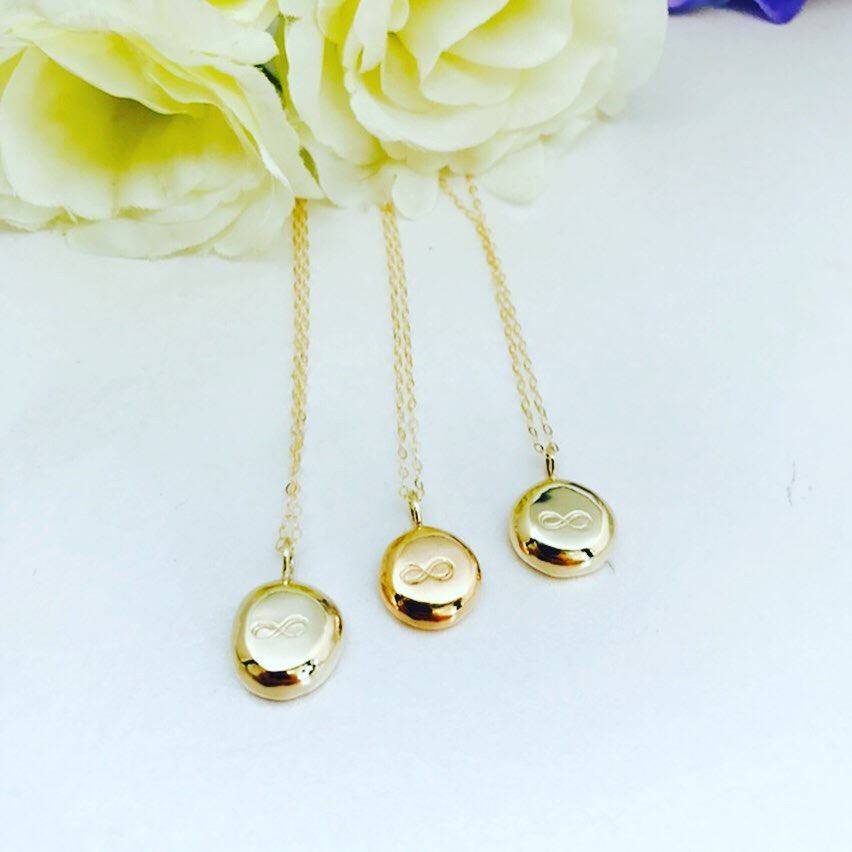 Gold Recycled Nugget Necklaces made for some bridesmaids