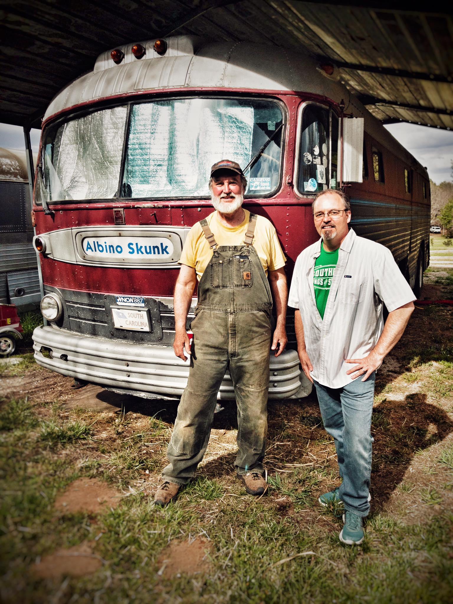"""Joe Kendrick with Glynn """"Zig"""" Zeigler at the Skunk Bus 3-25-17"""