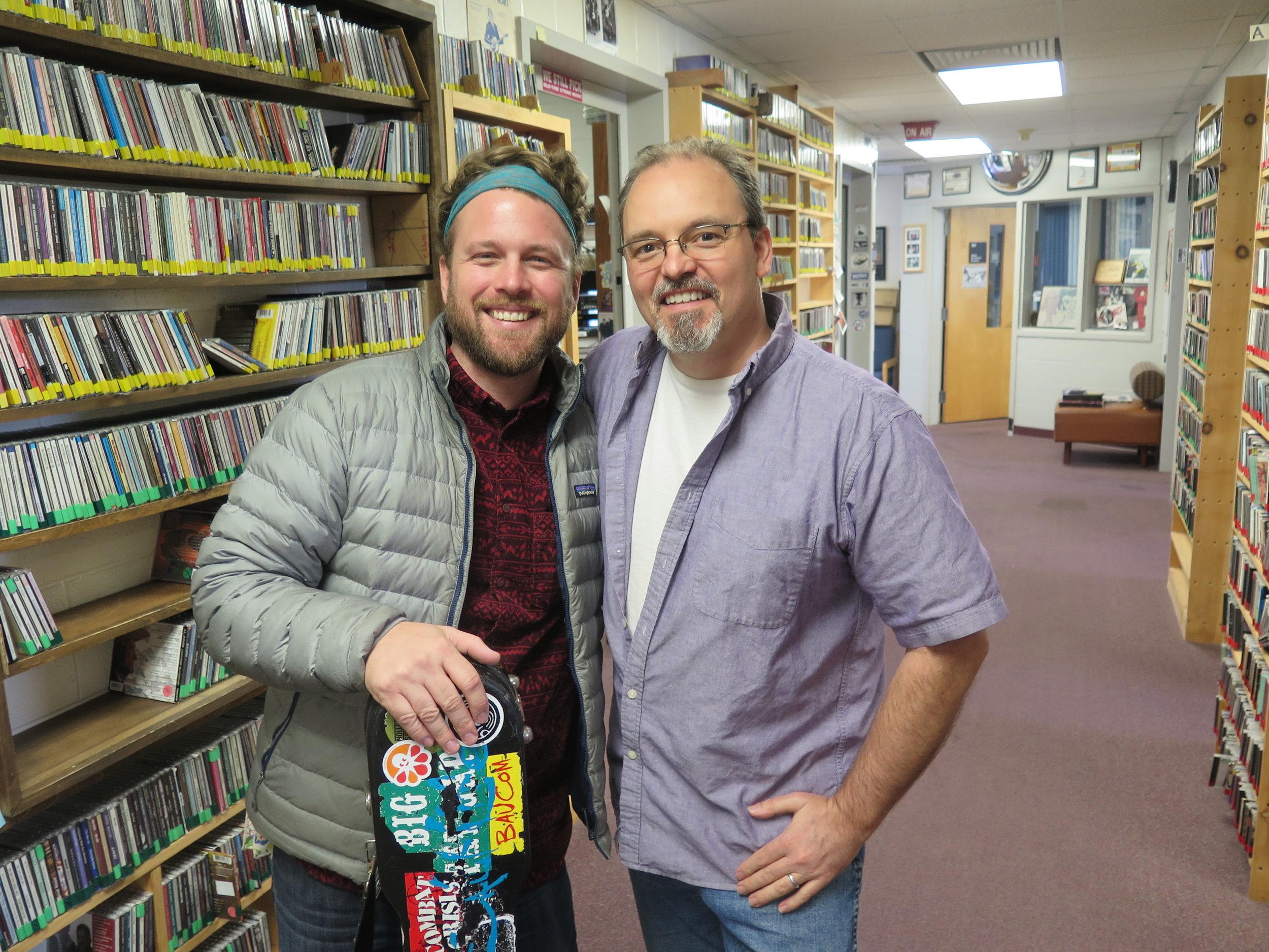 Jon Stickley with Joe at WNCW