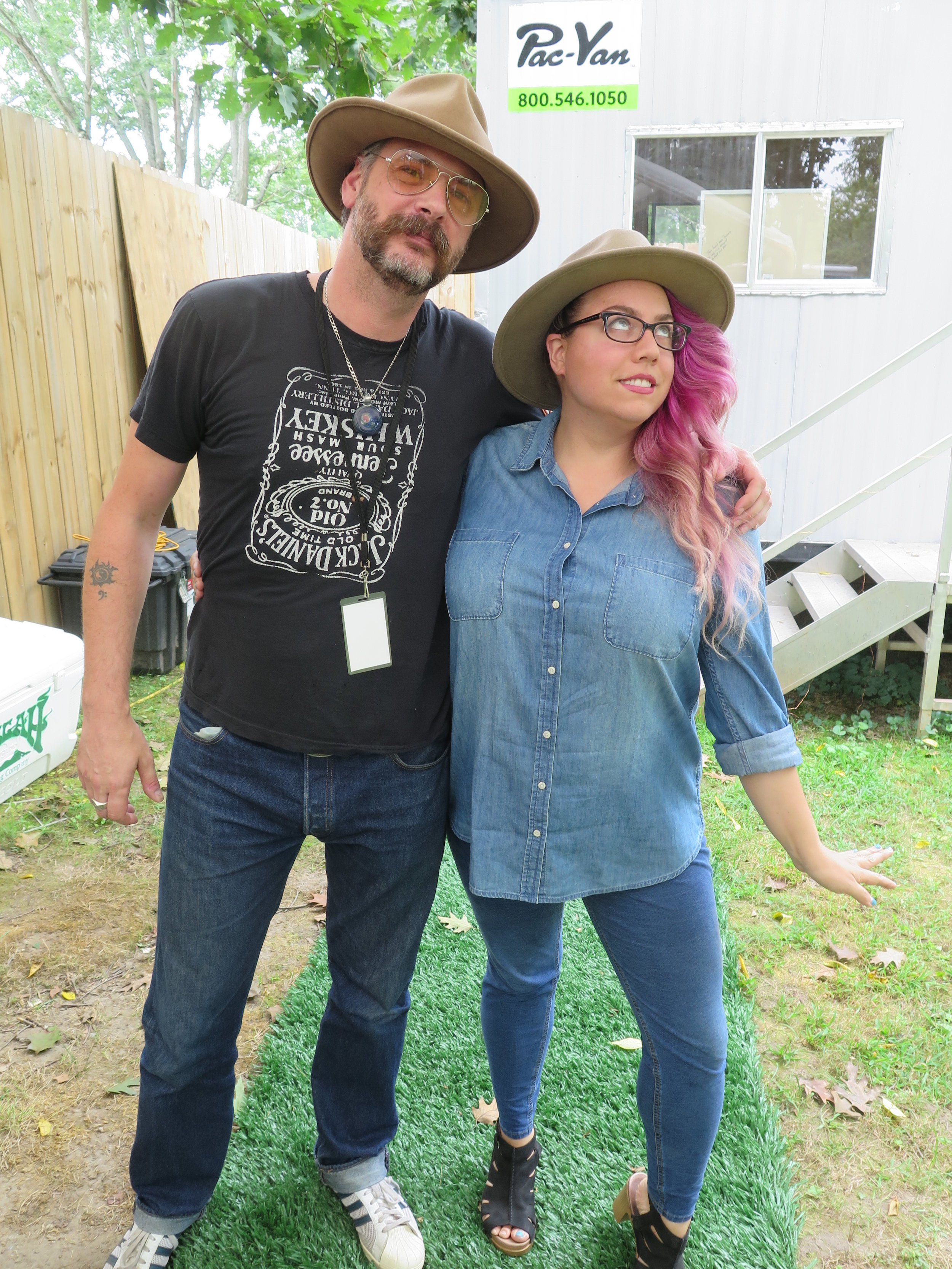 Ken Tizzard and Melody Walker of Front County at Jam In The Trees 2017