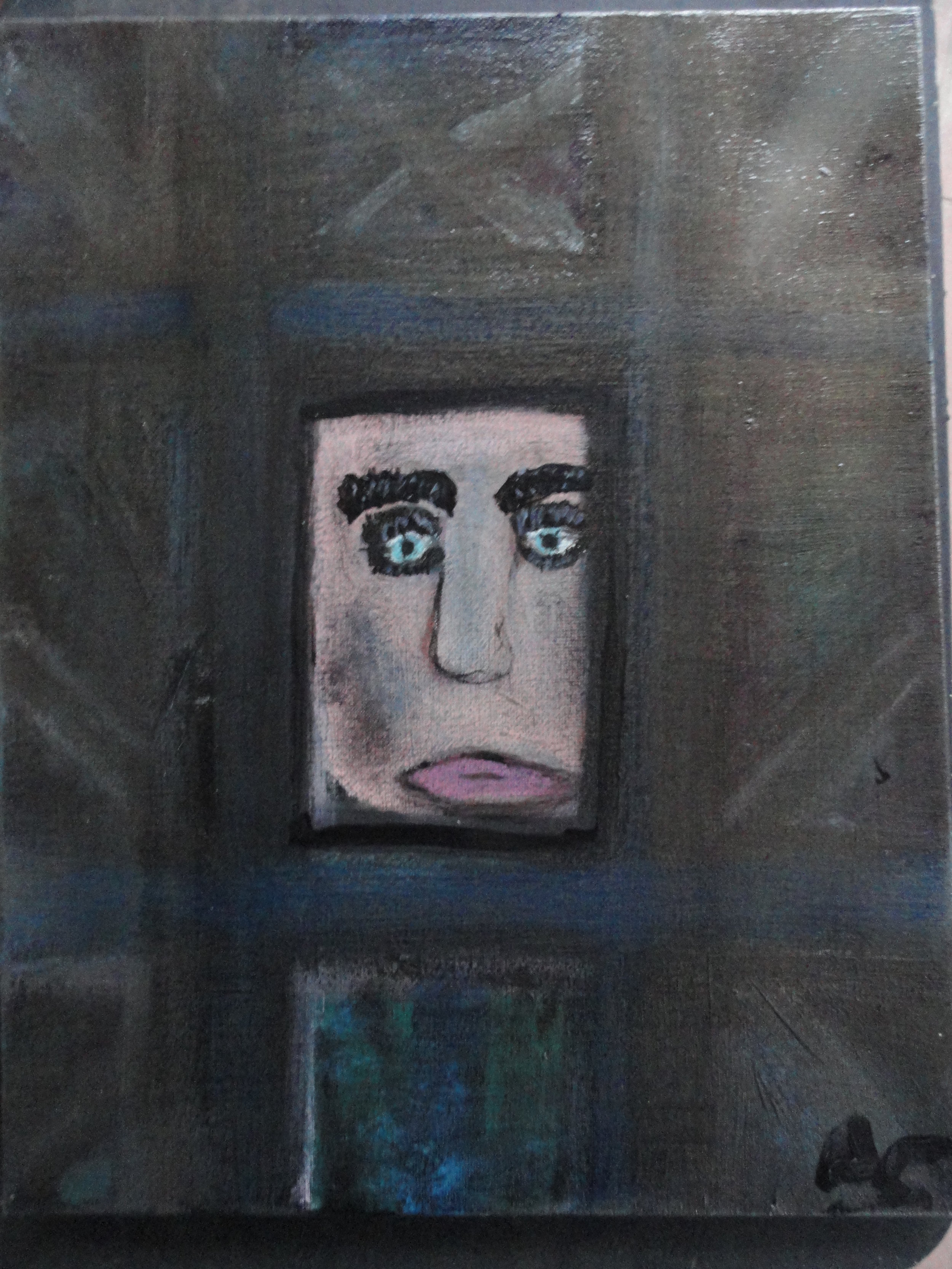 "David Childers' painting ""Face At The Window"""