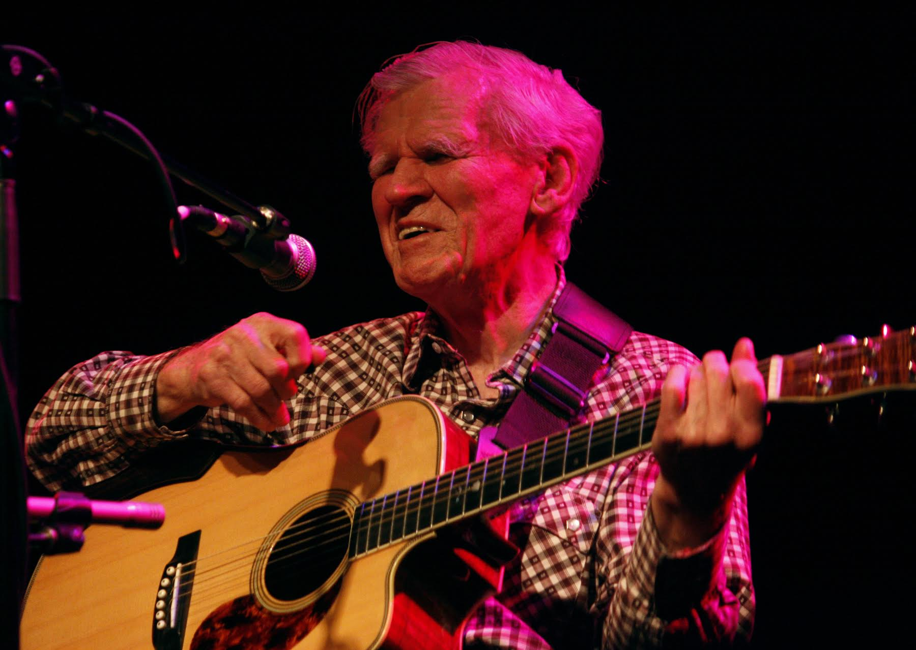 Doc Watson, photographed in December 2010 by one of our guests on the show, Daniel Coston.