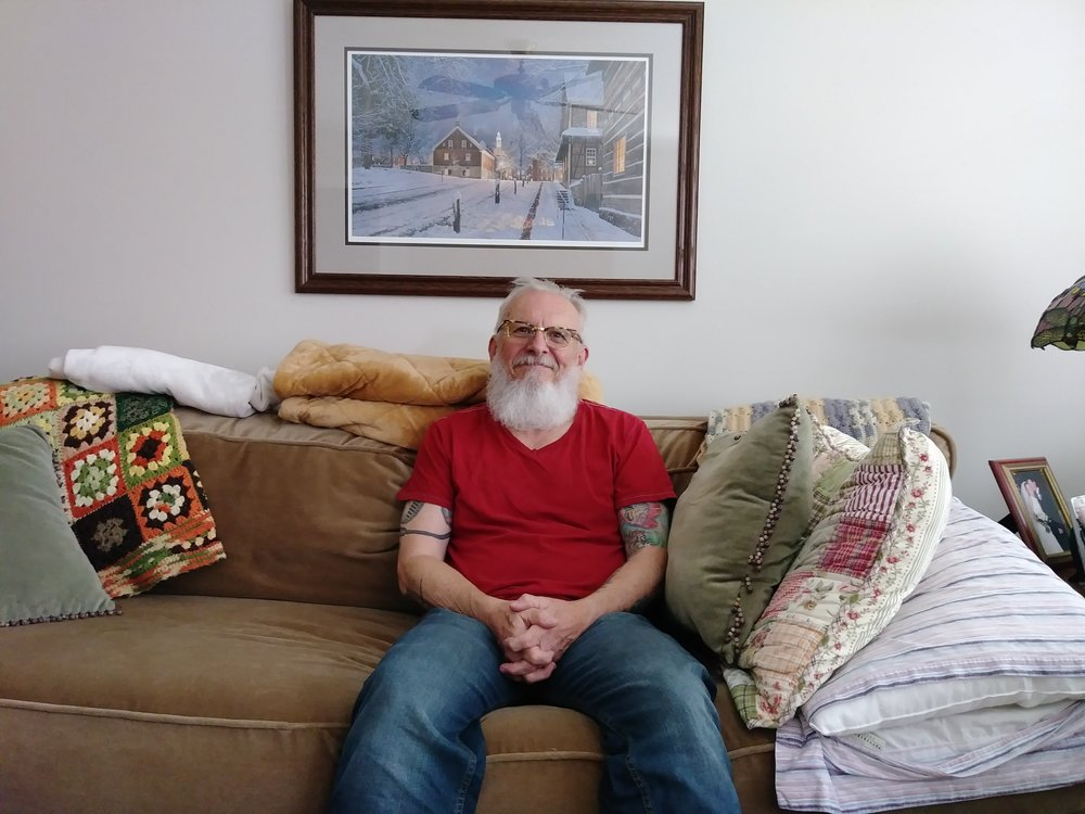 Sandy Carlton at his home in Cleveland County, North Carolina