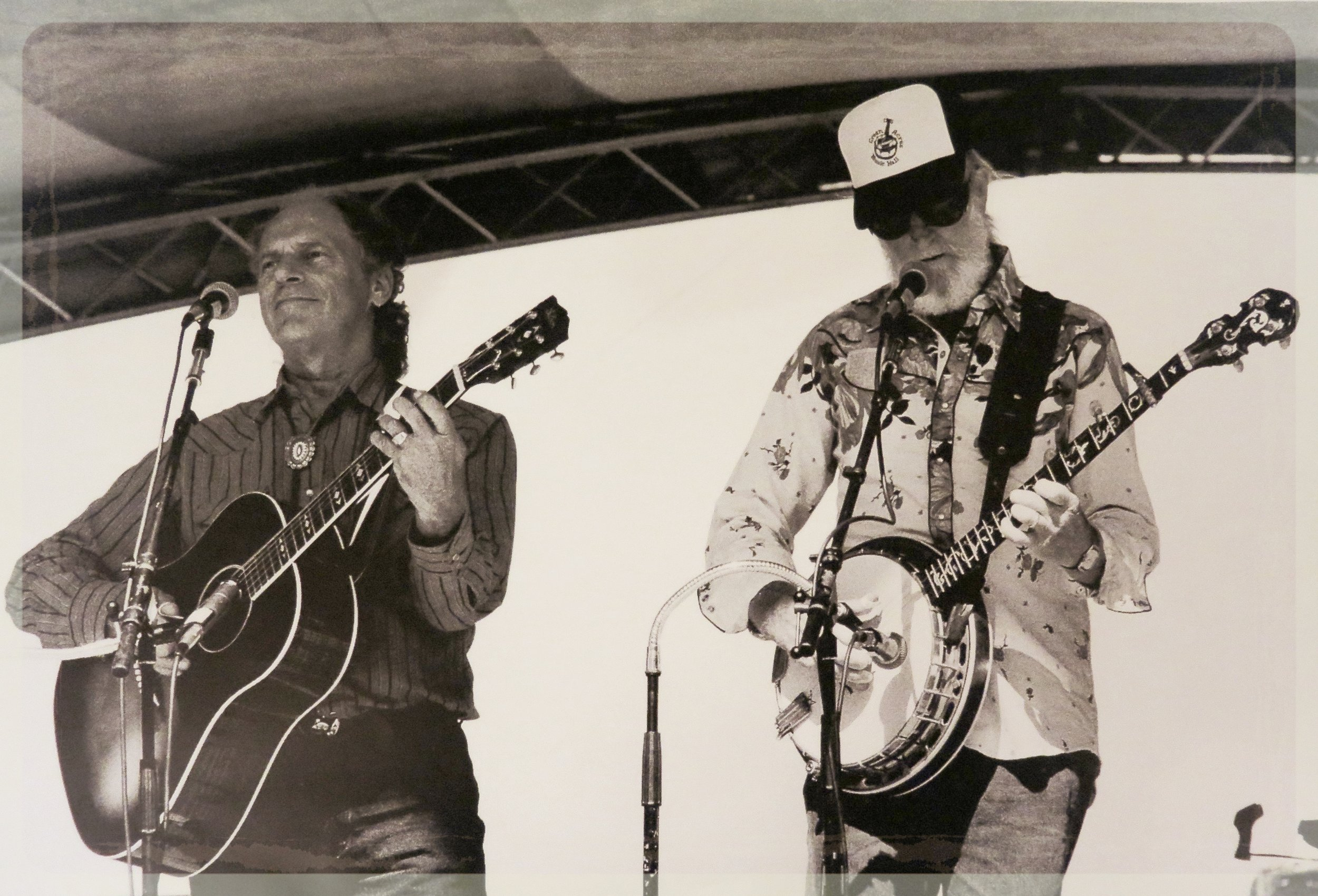 Courtney Johnson and Eddie Adcock at Green Acres Music Hall. Photo: Alice Taylor