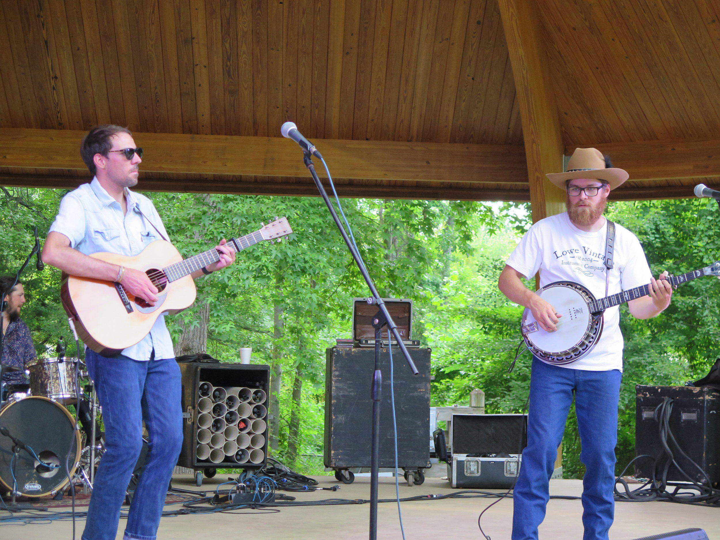 Time Sawyer   plays in Burlington, NC 6-8-18, with Sam Tayloe on acoustic guitar and Houston Norris on banjo