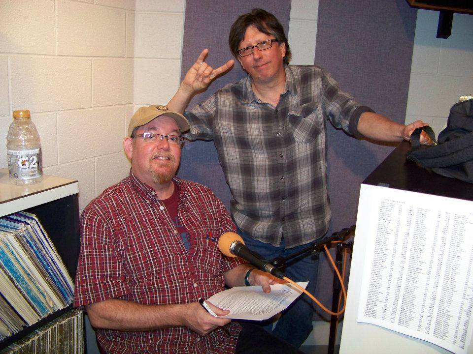(L to R) Jeff Eason and Fred Mills in studio to record What It Is on 2-24-12. This was the last time Jeff, Fred and Joe Kendrick were on the show together.