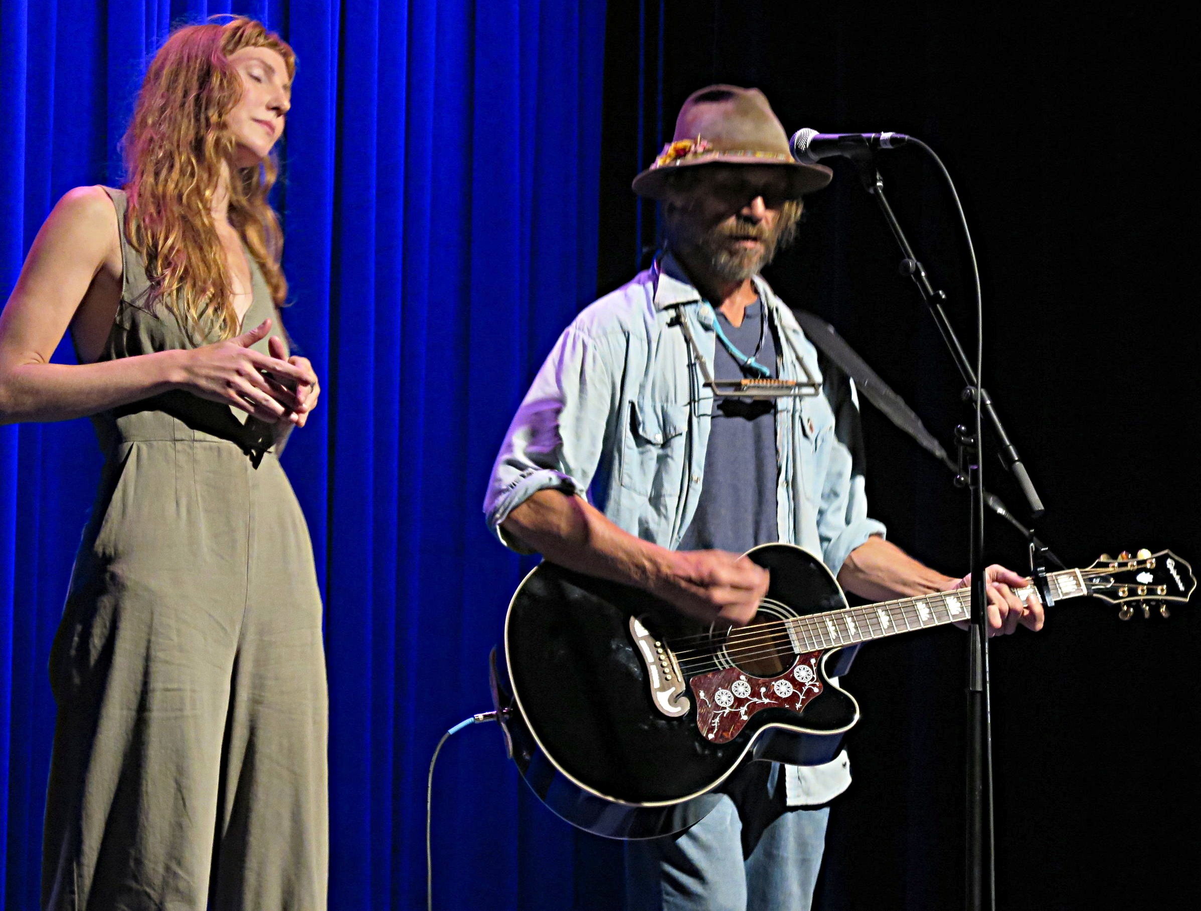 Rorey Carroll and Todd Snider at Reevestock in Elkin, NC 8-3-18