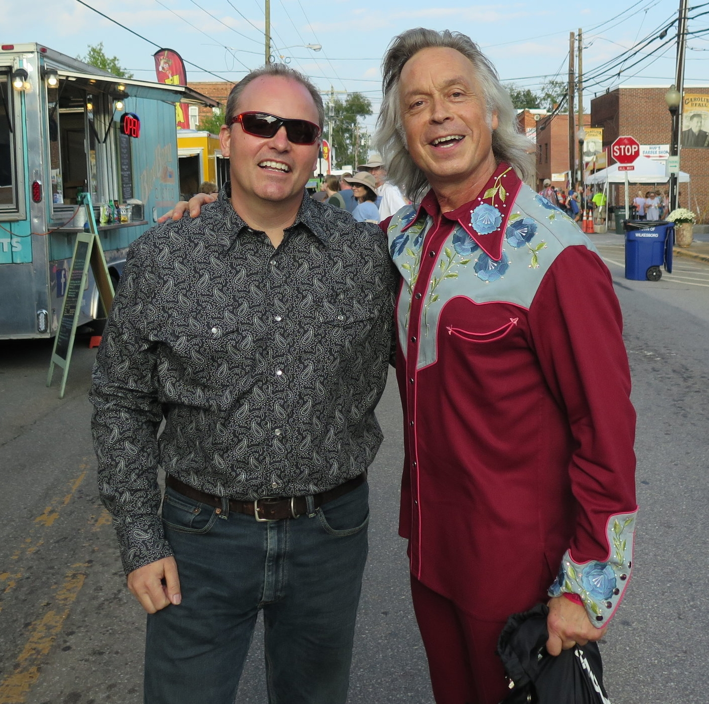 Joe Kendrick and Jim Lauderdale at Carolina In The Fall in Wilkesboro NC 9-21-18