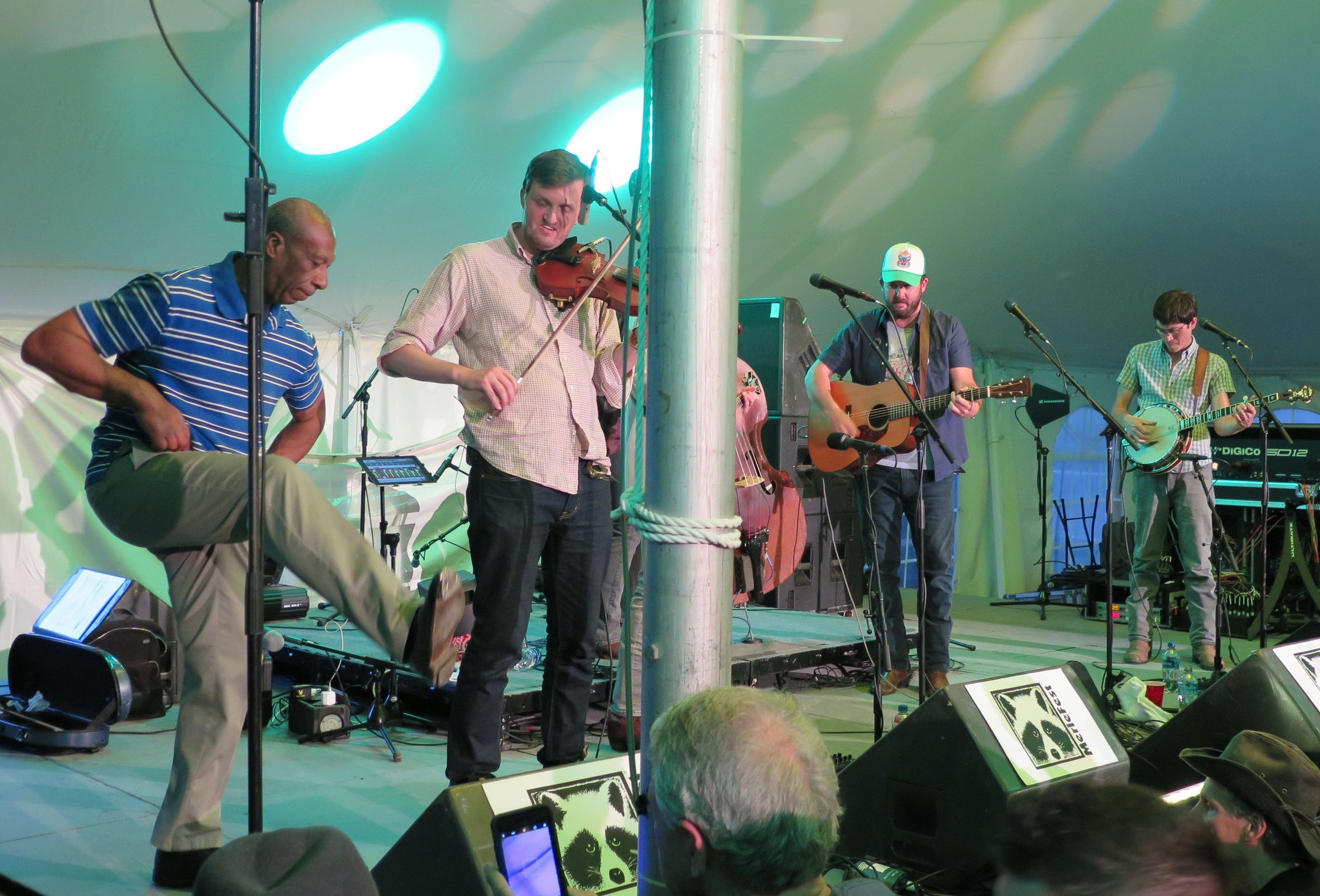 Arthur Grimes buck dances with Town Mountain at MerleFest in 2018