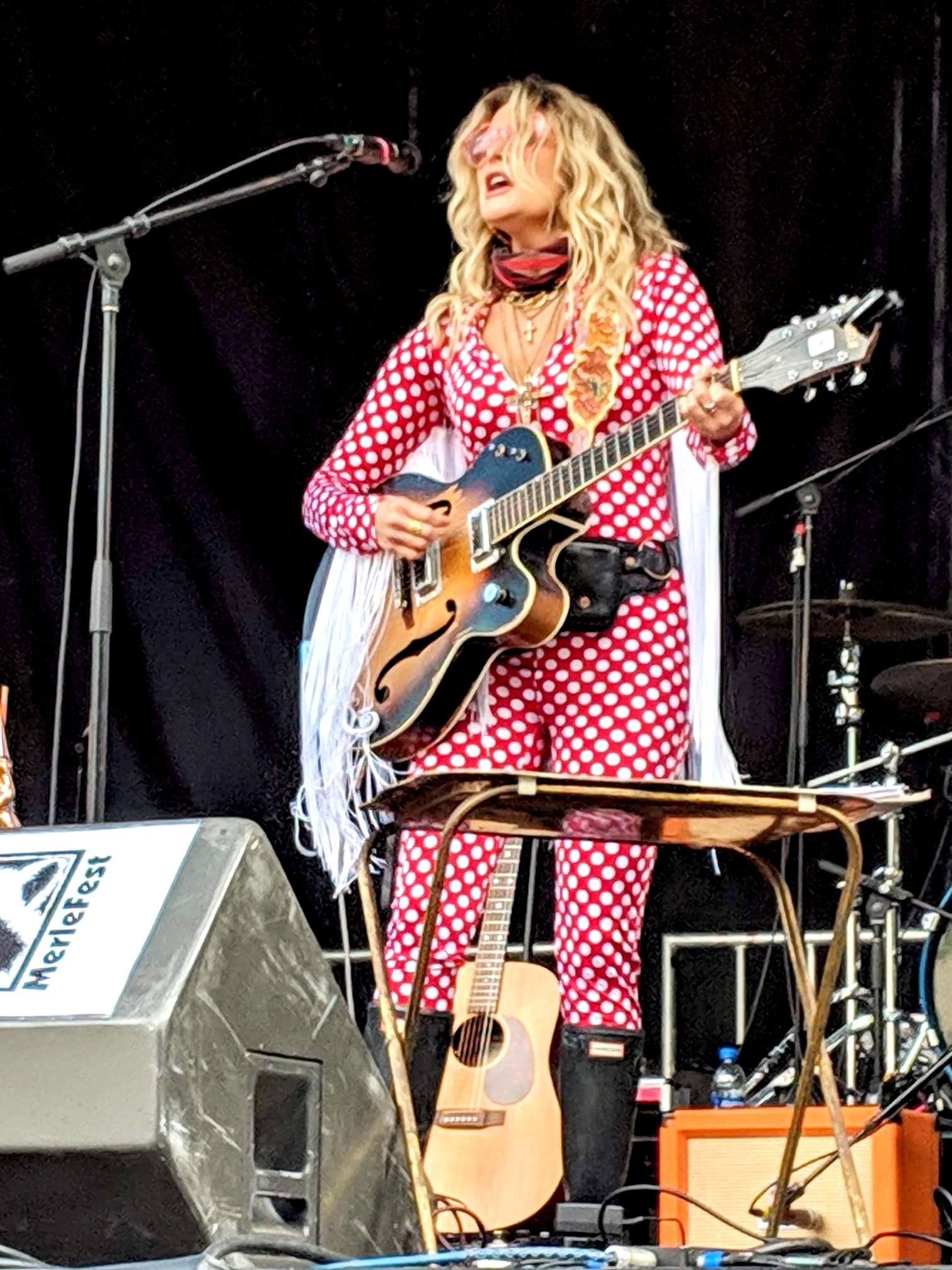 Elizabeth Cook performs on the Americana Stage at MerleFest 4-26-19. Photo: Ken Banks