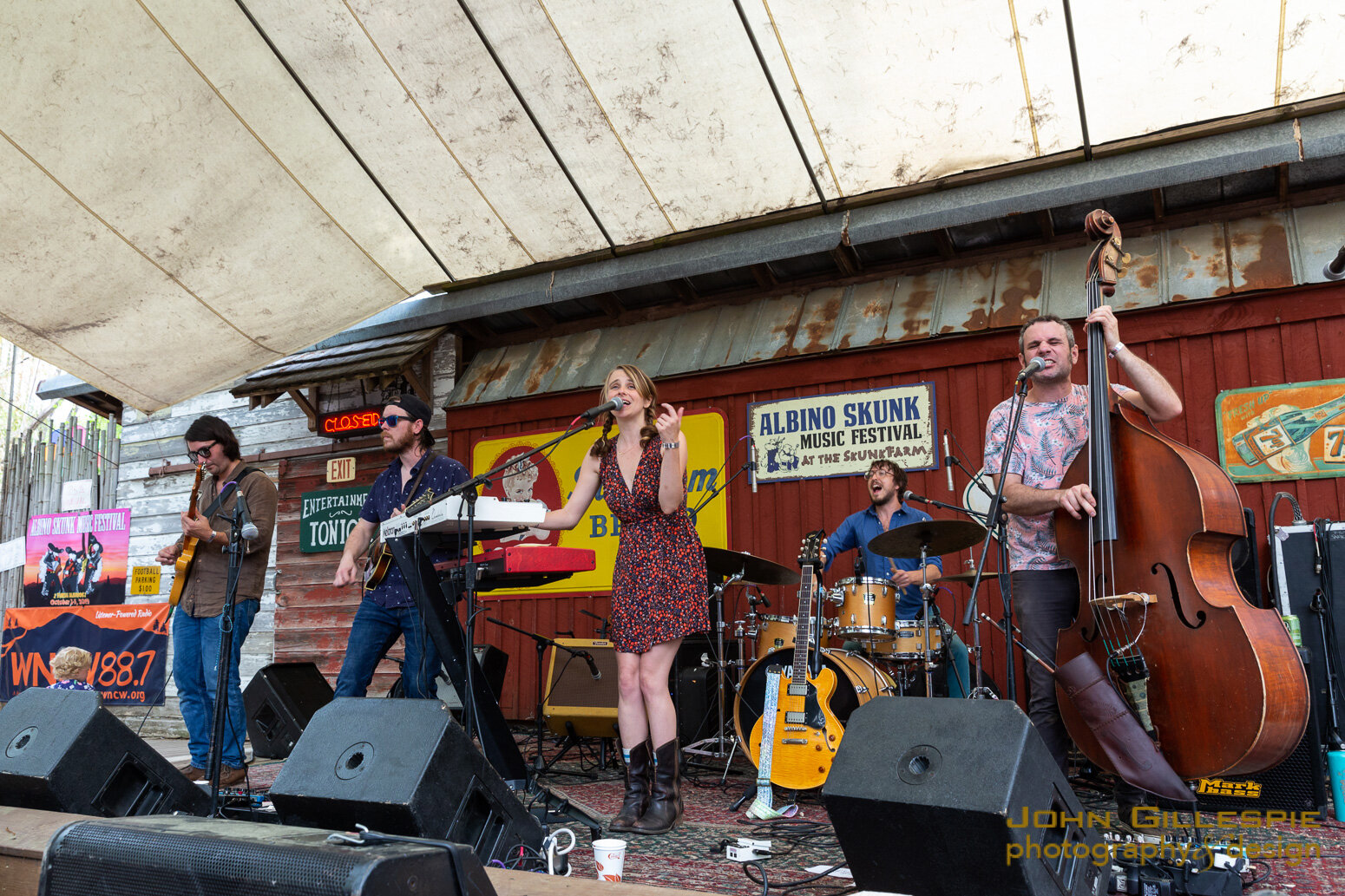 The Deer on stage at the Albino Skunk Music Festival 4-13-19. Photo: John Gillespie