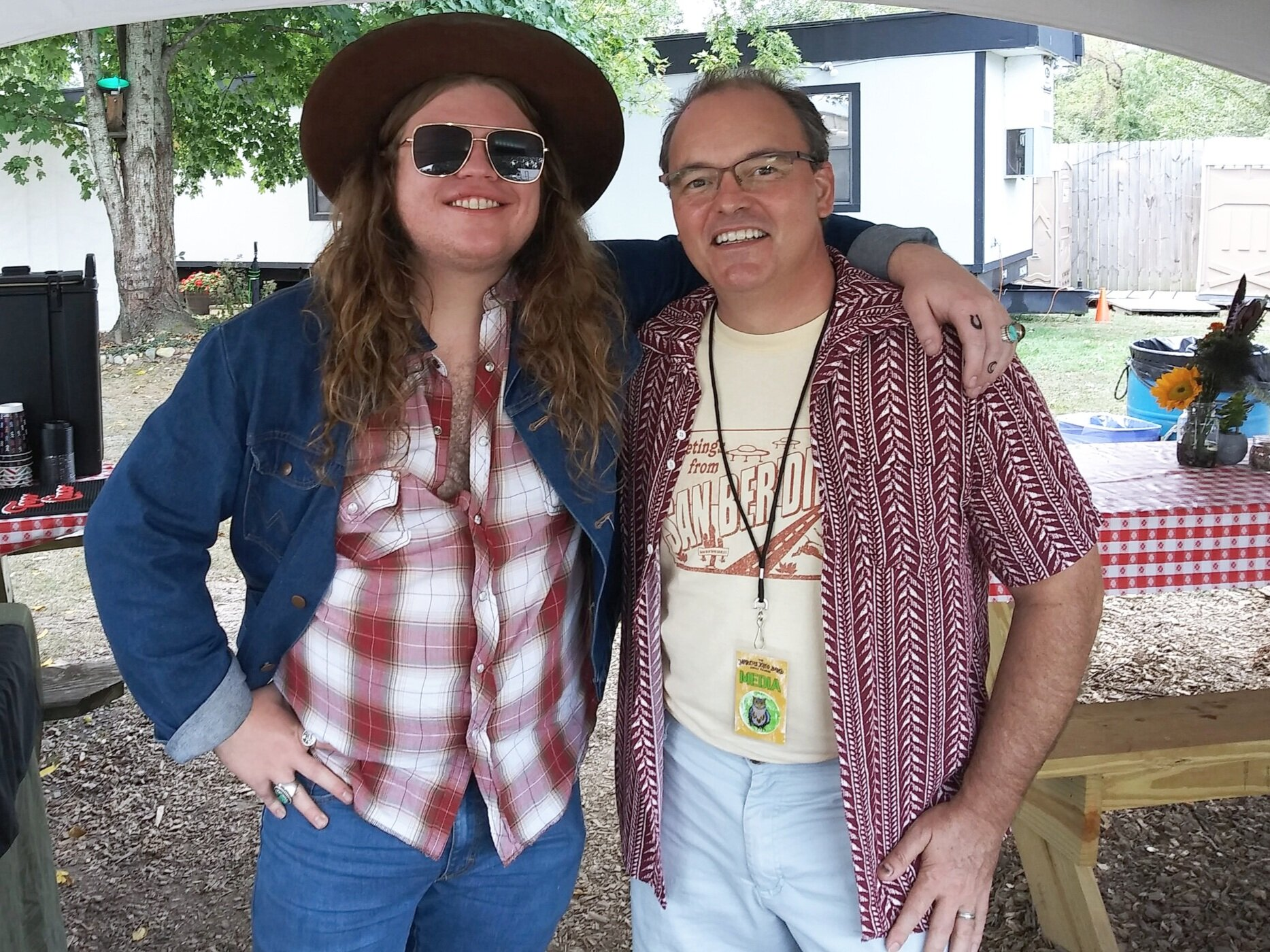 Marcus King with Joe Kendrick at the Marcus King Band Family Reunion in Black Mtn, NC 9-28-19