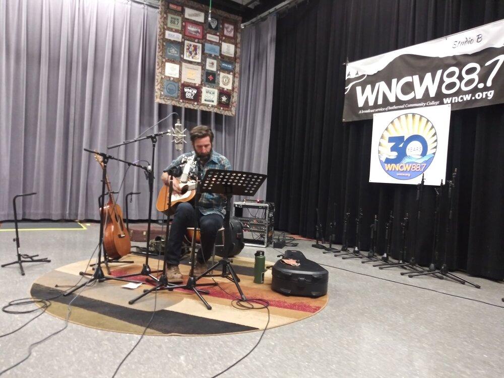 Tyler Ramsey performs in WNCW's Studio B 11-23-20